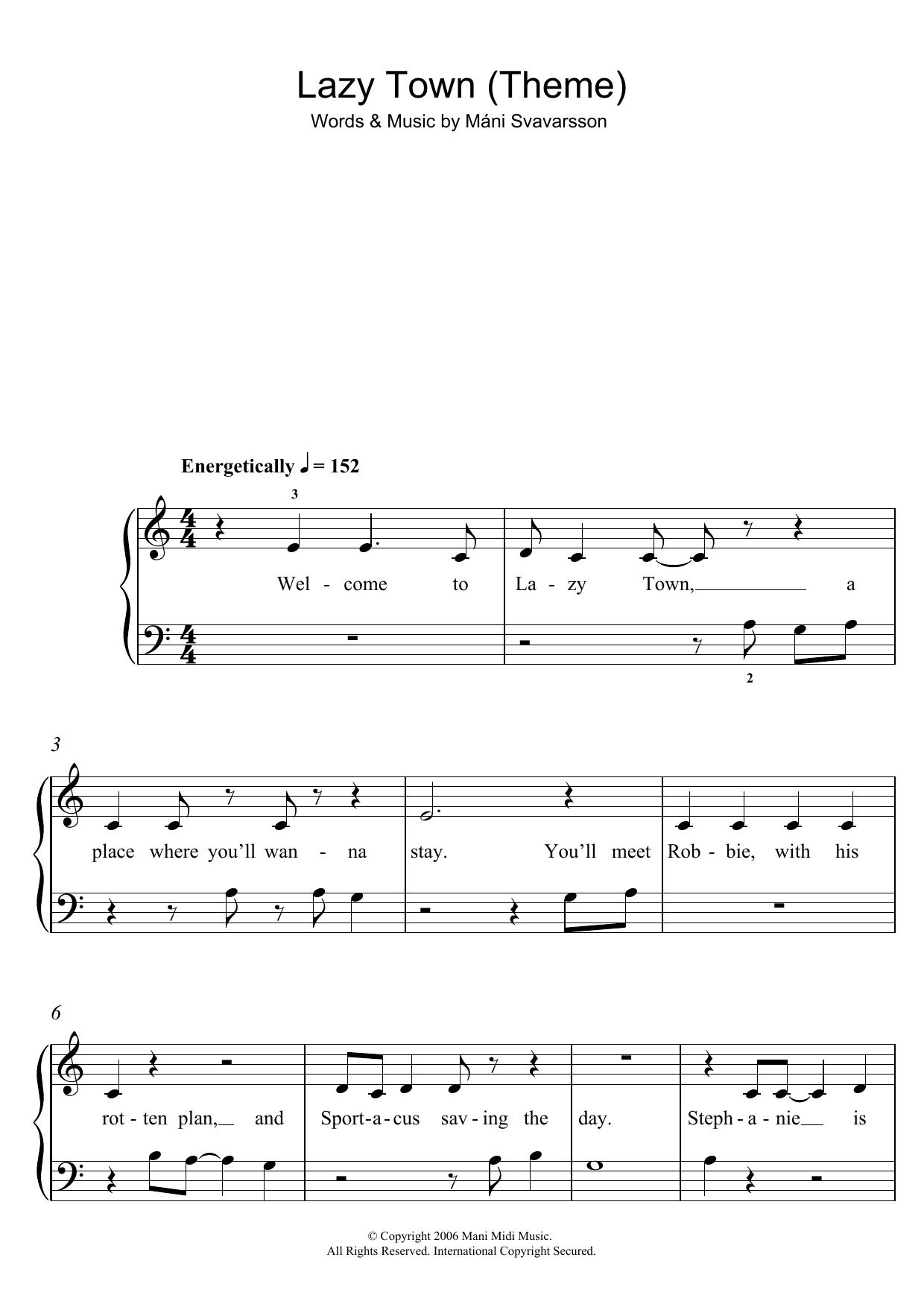 Máni Svavarsson - Lazy Town (Theme)