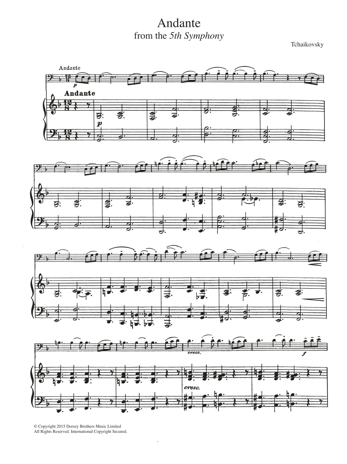 Pyotr Ilyich Tchaikovsky: Symphony No.5 (2nd Movement: Andante)