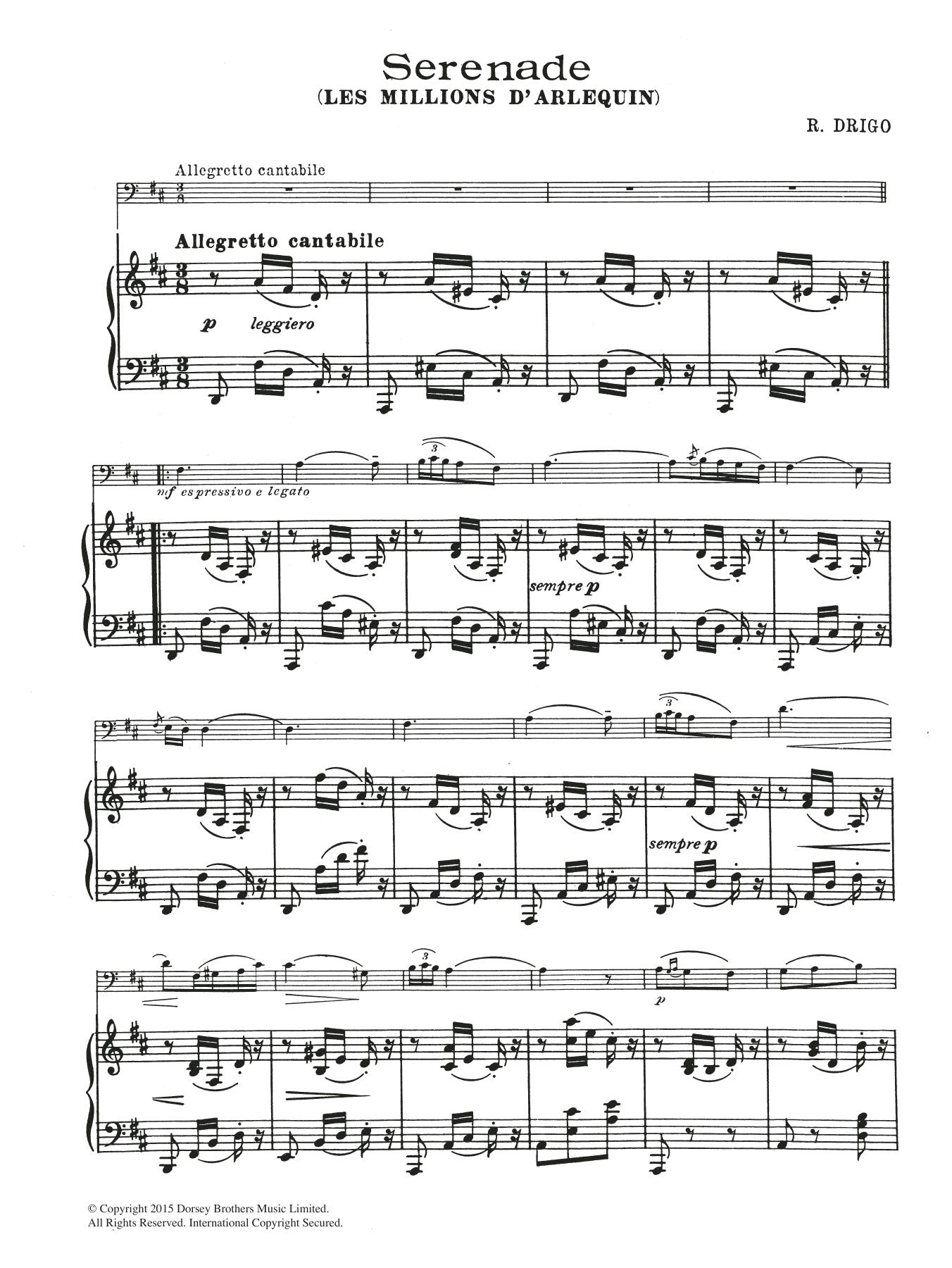 Riccardo Drigo: Serenade (From Millions D'Arlequin)
