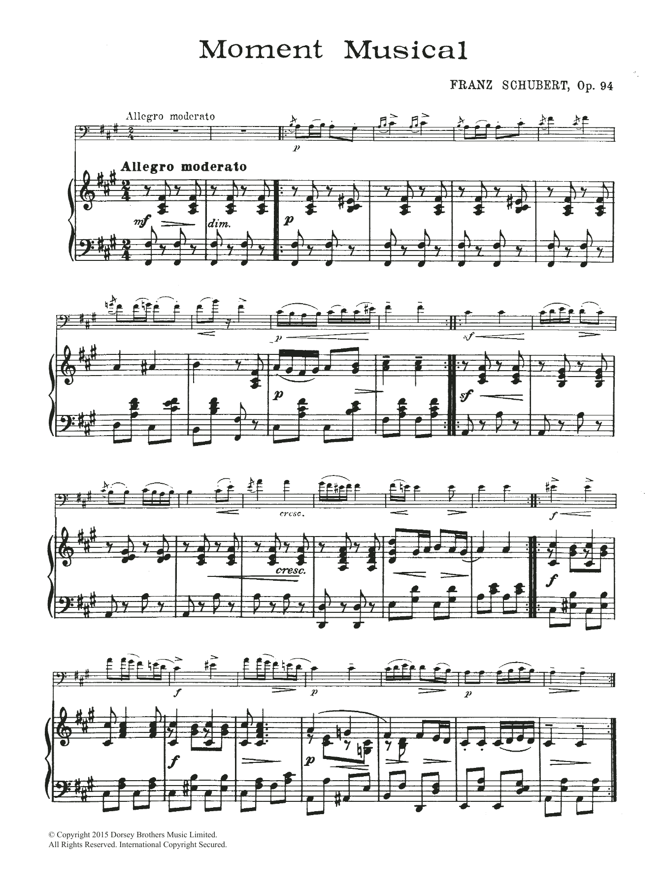 Franz Schubert: Moment Musical