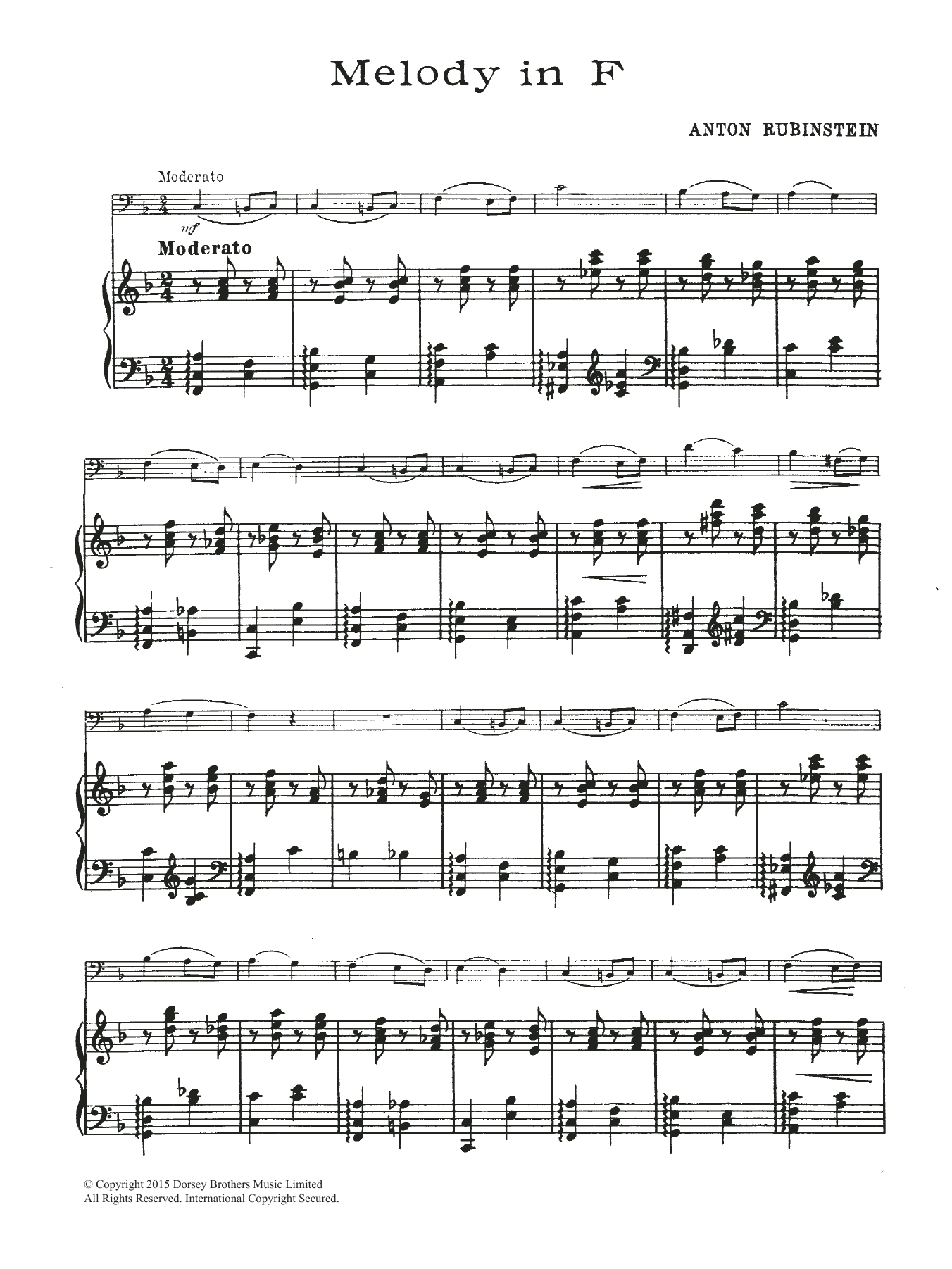 Anton Rubinstein: Melody In F