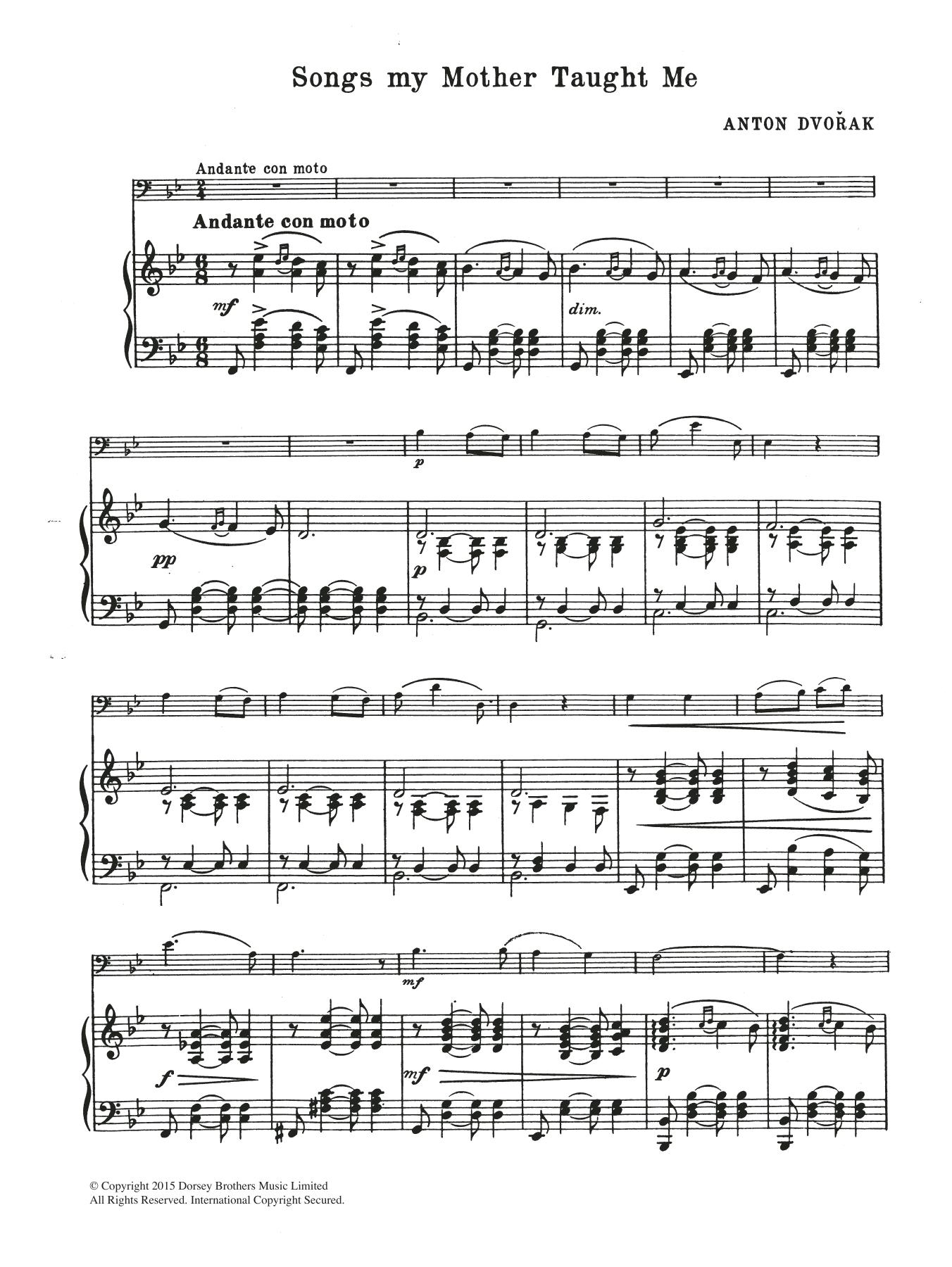 Antonin Dvorak - Songs My Mother Taught Me