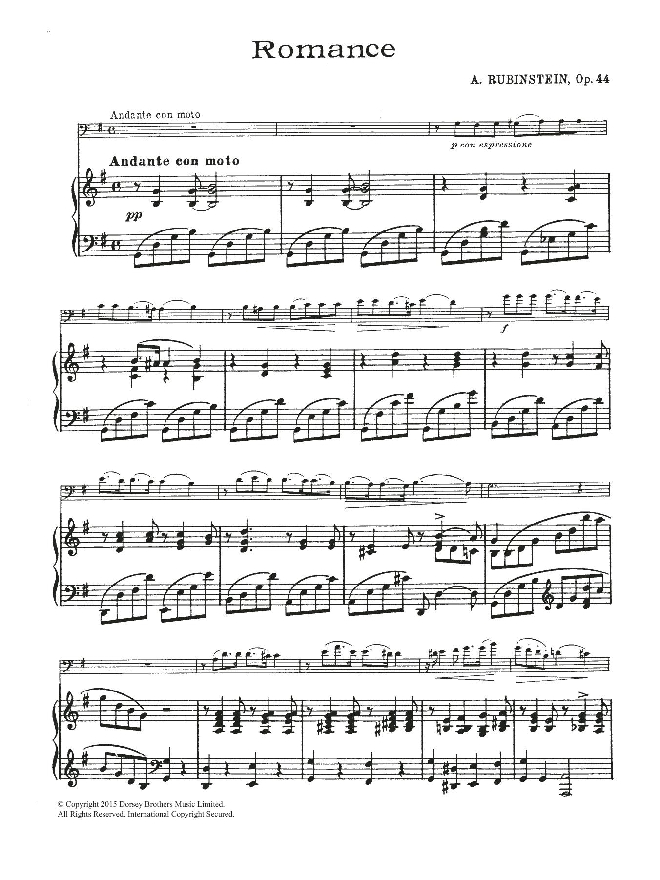 Anton Rubinstein: Romance, Op.44 No. 1