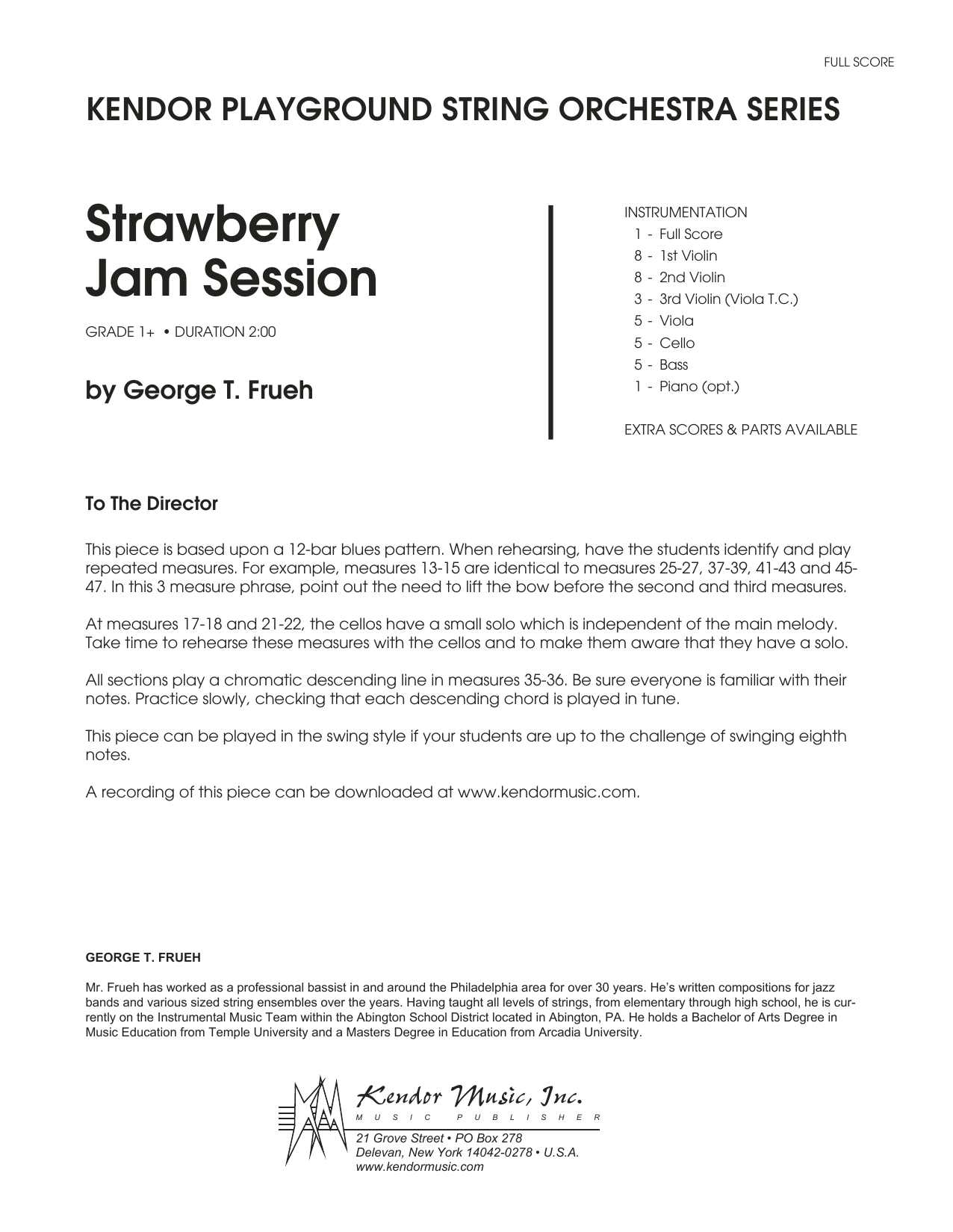 Strawberry Jam Session - Full Score
