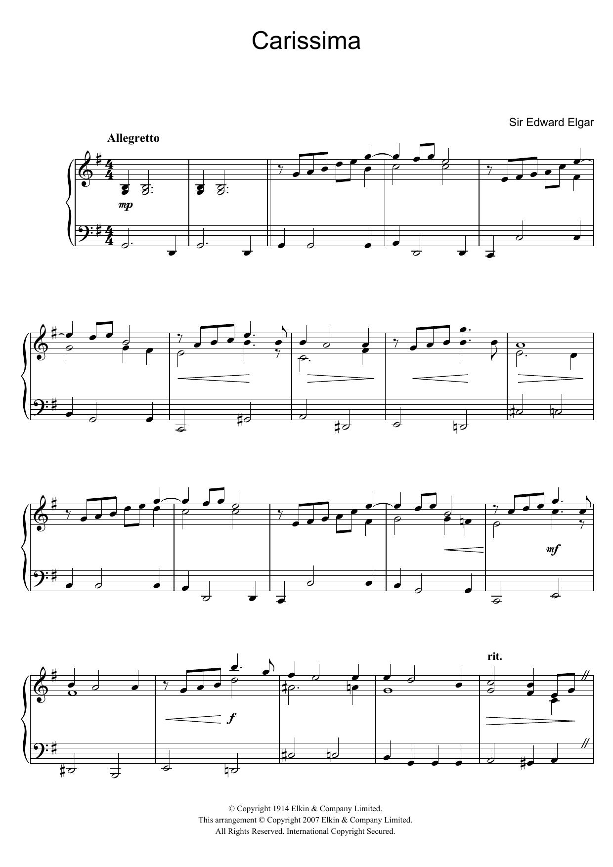 Edward Elgar - Carissima