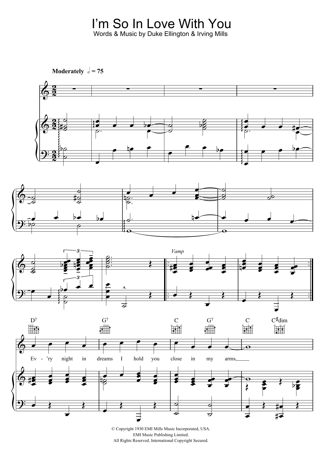 Duke Ellington: I'm So In Love With You