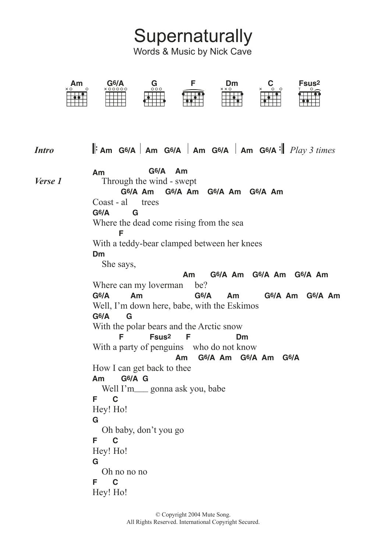 Nick Cave - Supernaturally