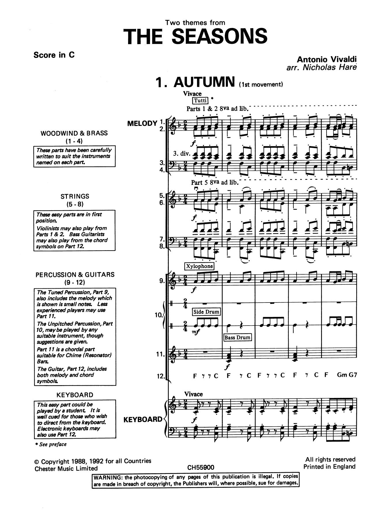 Antonio Vivaldi: Autumn and Winter (from The Four Seasons)