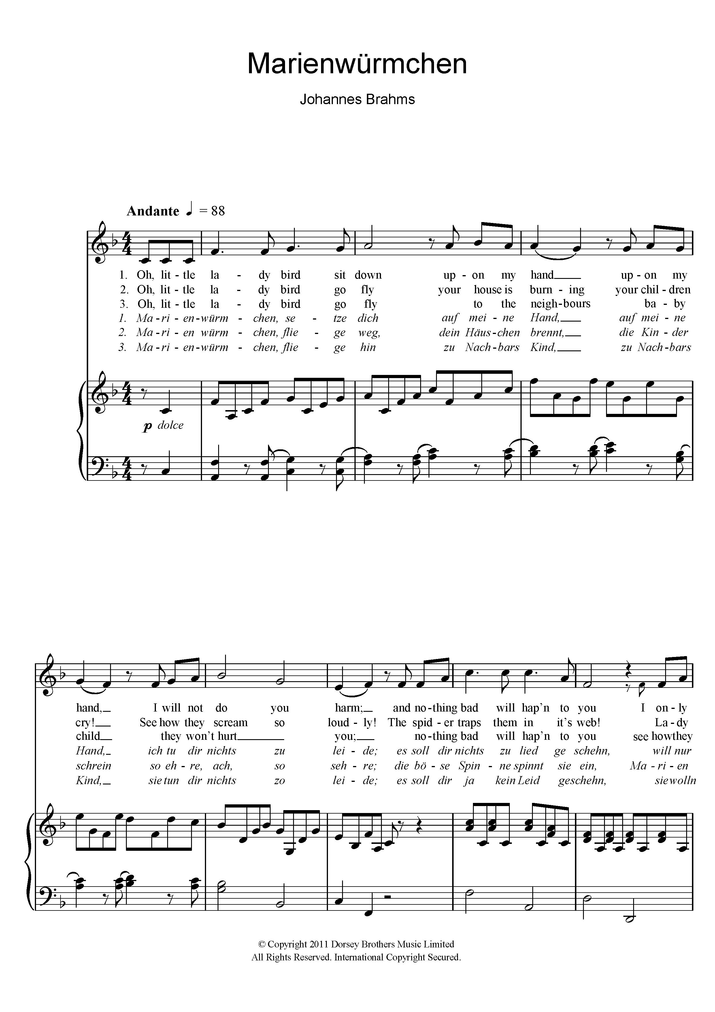 Edvard Grieg - Marienwurmchen