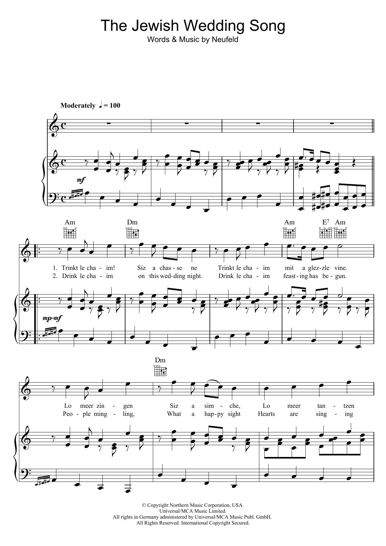 Julie Andrews - The Jewish Wedding Song