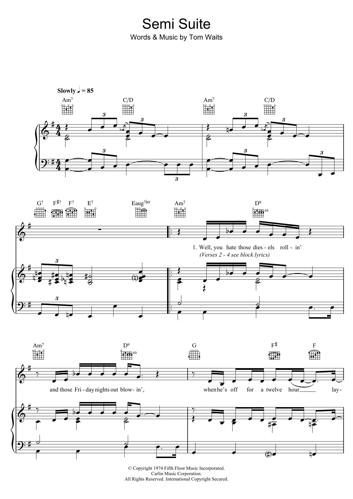 Tom Waits: Semi Suite