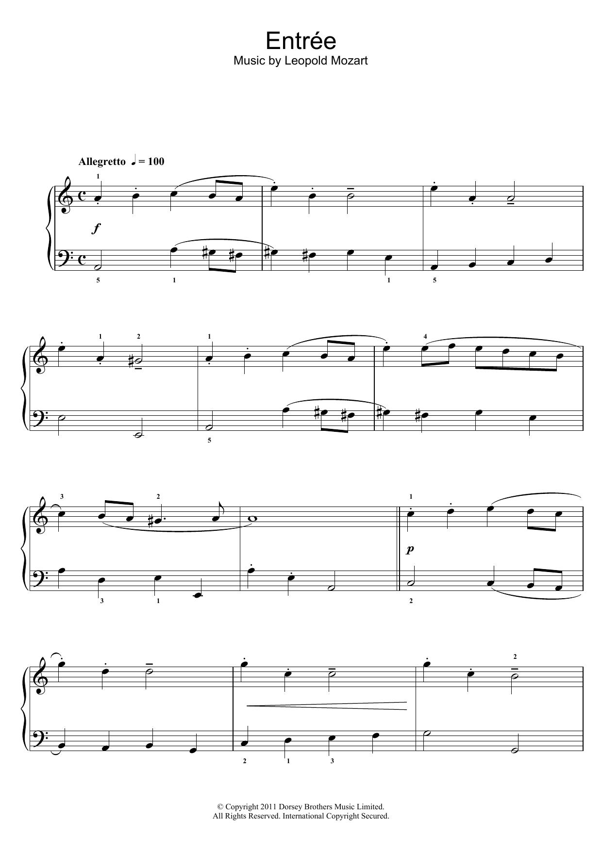 Leopold Mozart - Entree