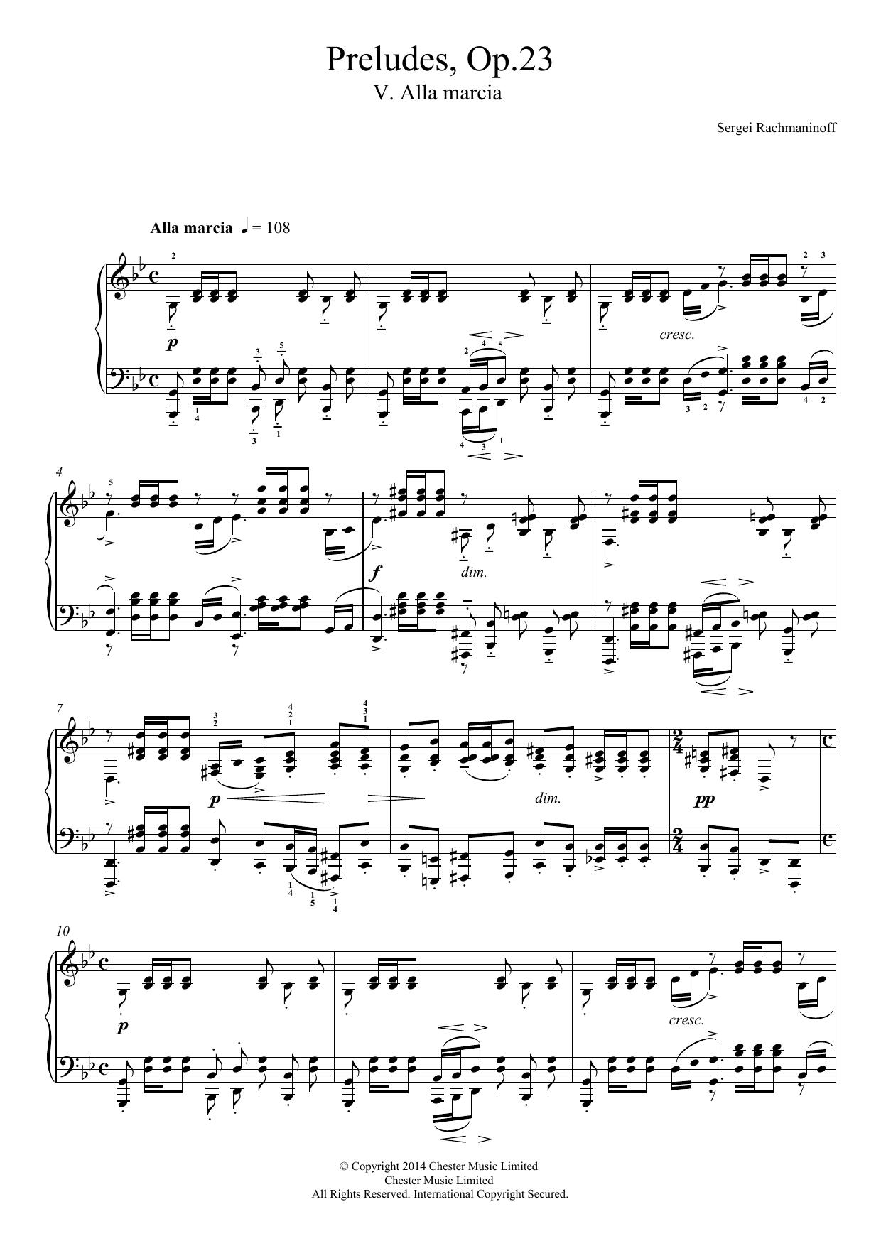 Sergei Rachmaninoff - Preludes Op.23, No.5 Alla marcia