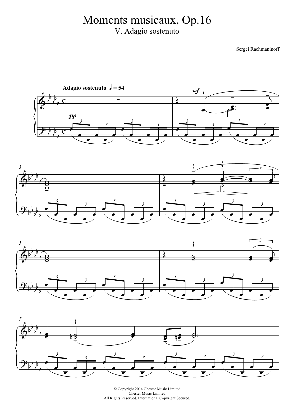 Sergei Rachmaninoff - Moments musicaux Op.16, No.5 Adagio sostenuto