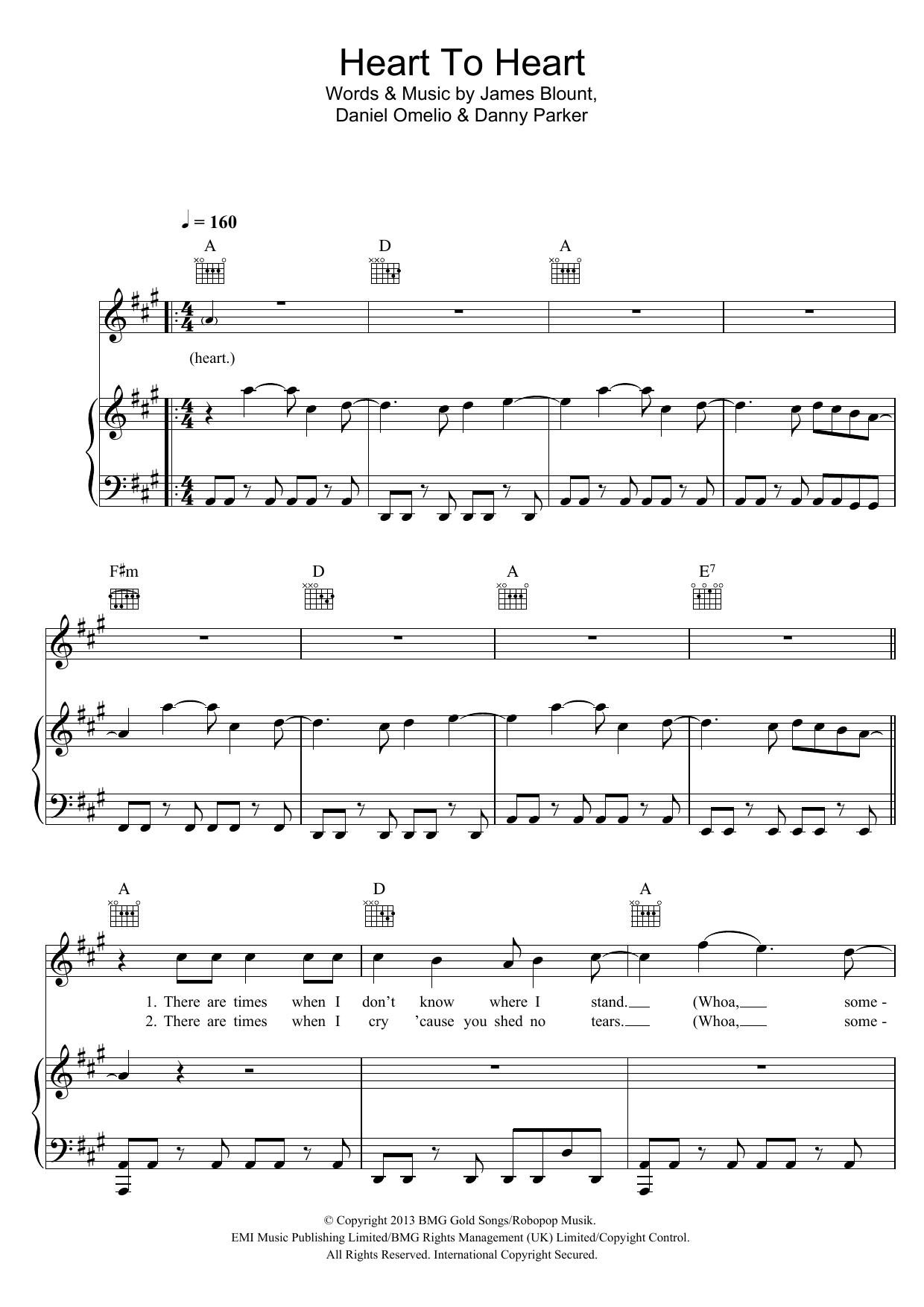 James Blunt - Heart To Heart