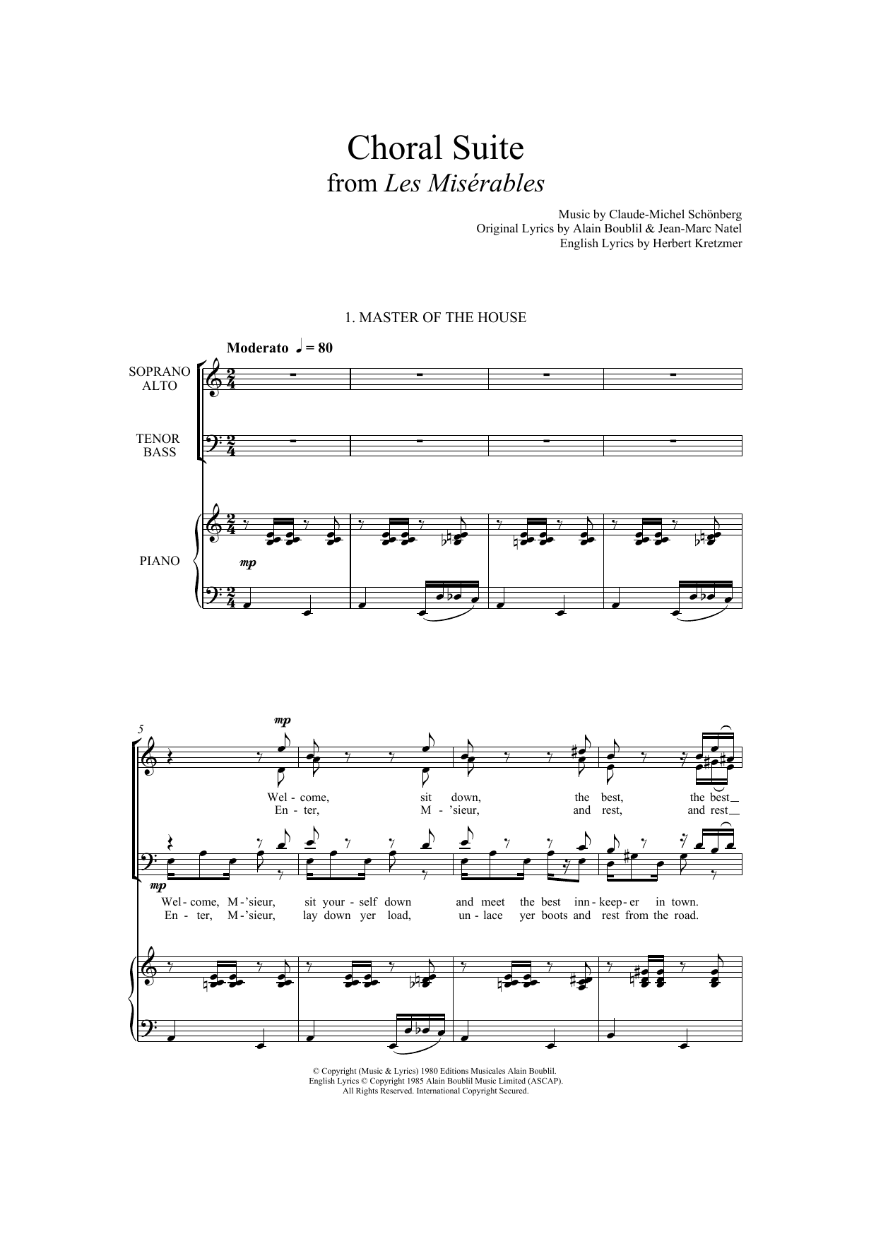 Boublil and Schonberg - Choral Suite From Les Miserables (arr. Francis Shaw)