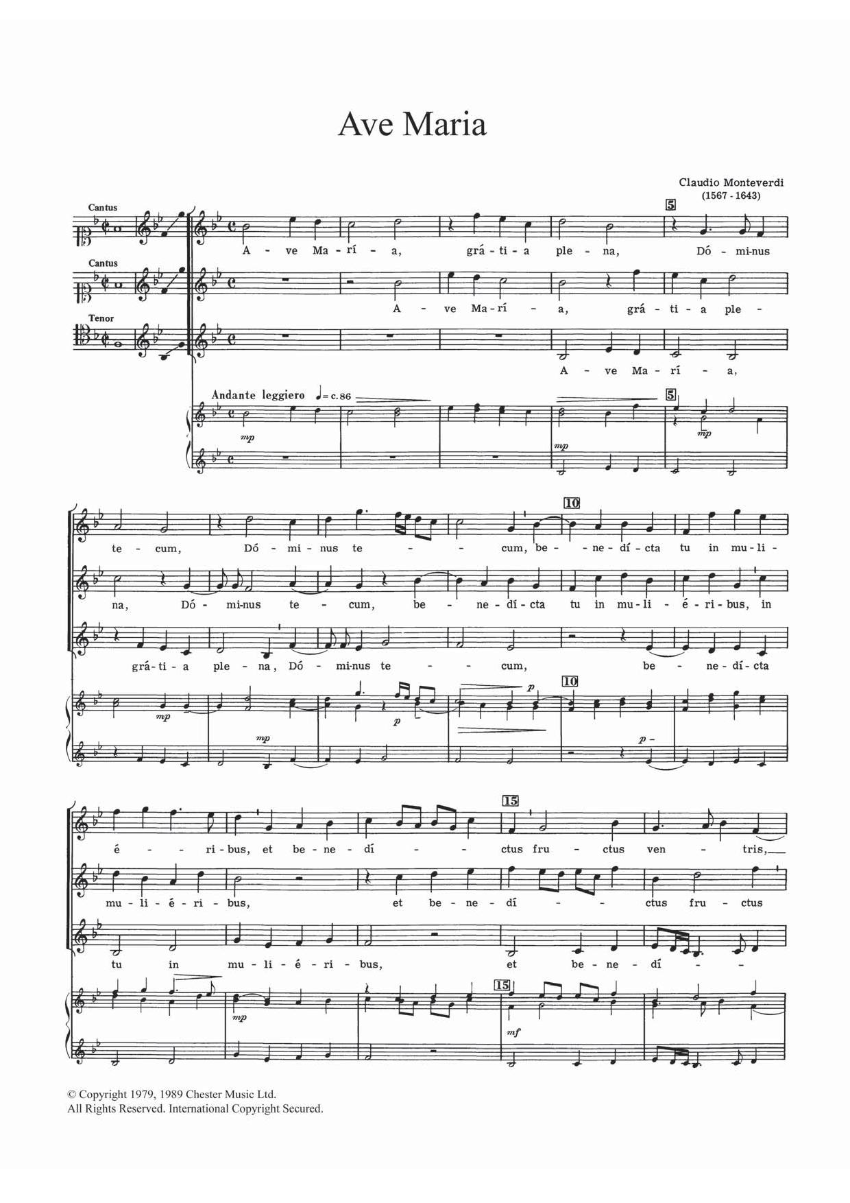Claudio Monteverdi - Ave Maria