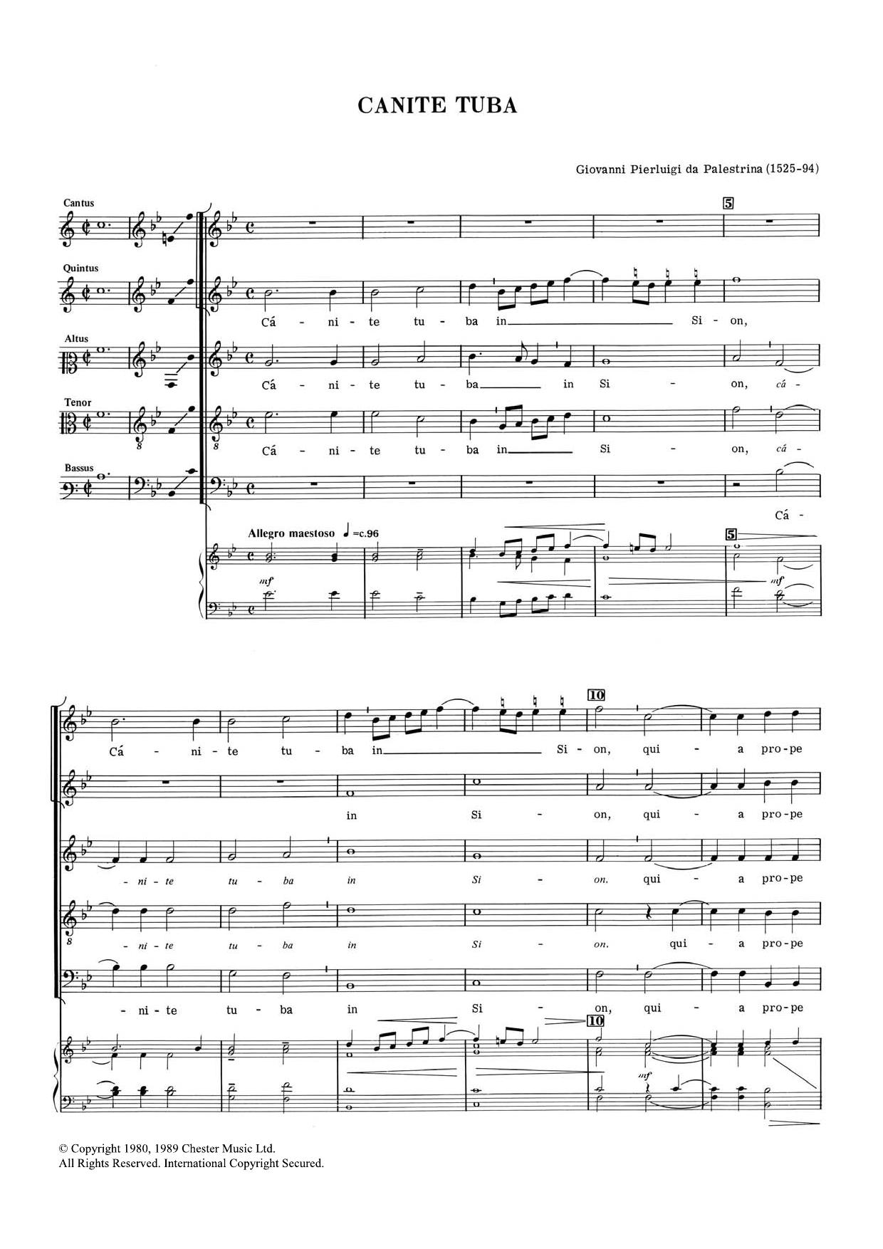Giovanni Palestrina - Canite Tuba