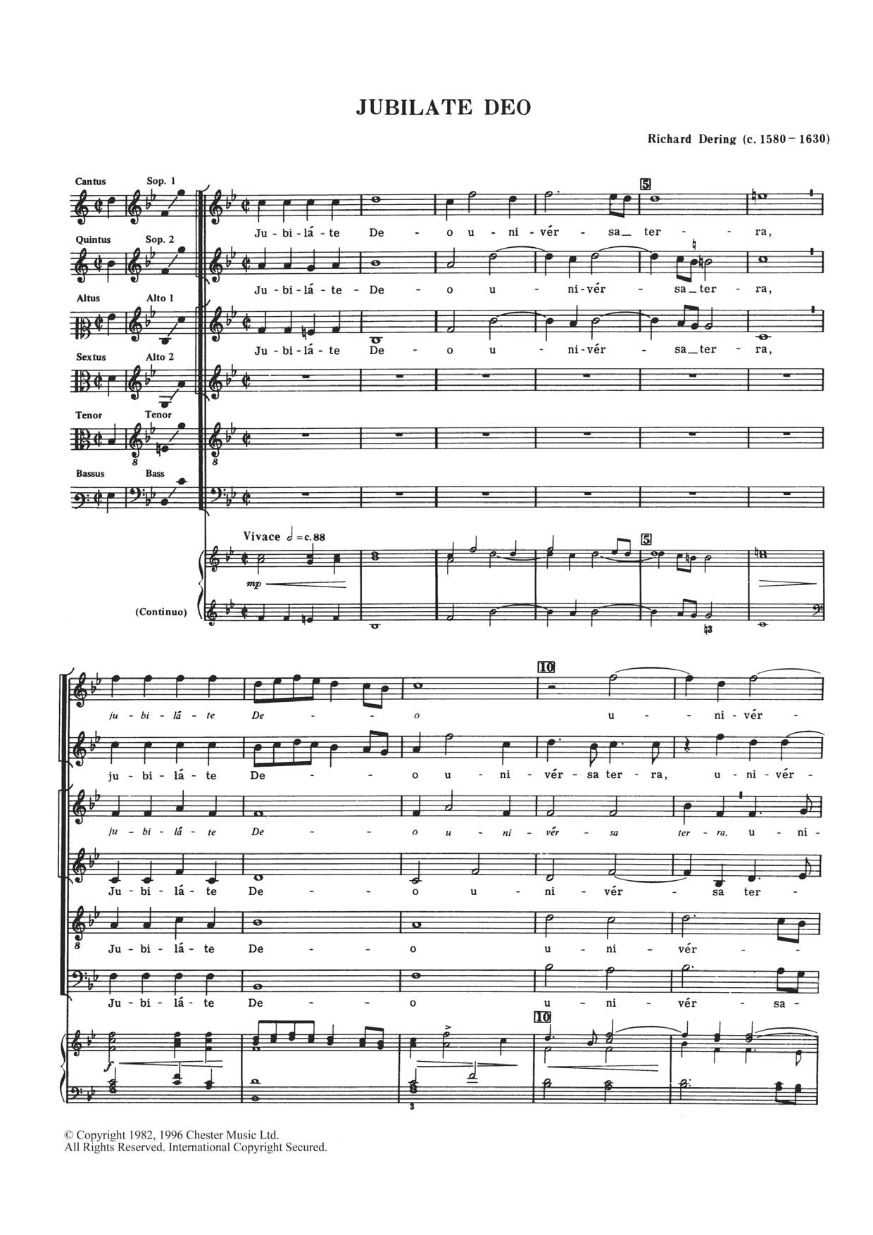 Richard Dering - Jubilate Deo