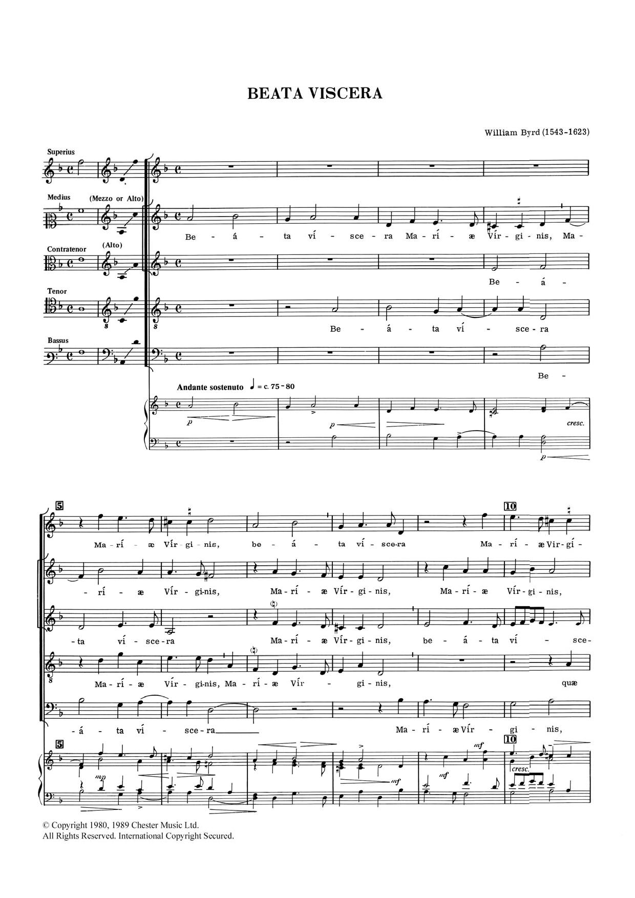 William Byrd - Beata Viscera