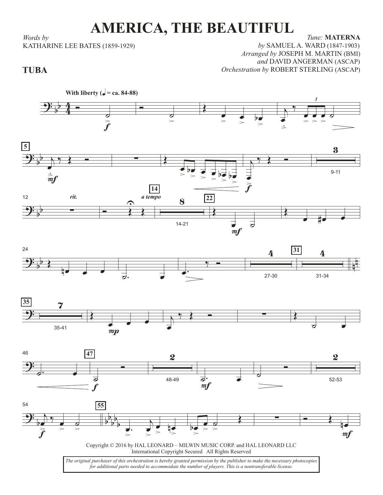 America, the Beautiful - Tuba