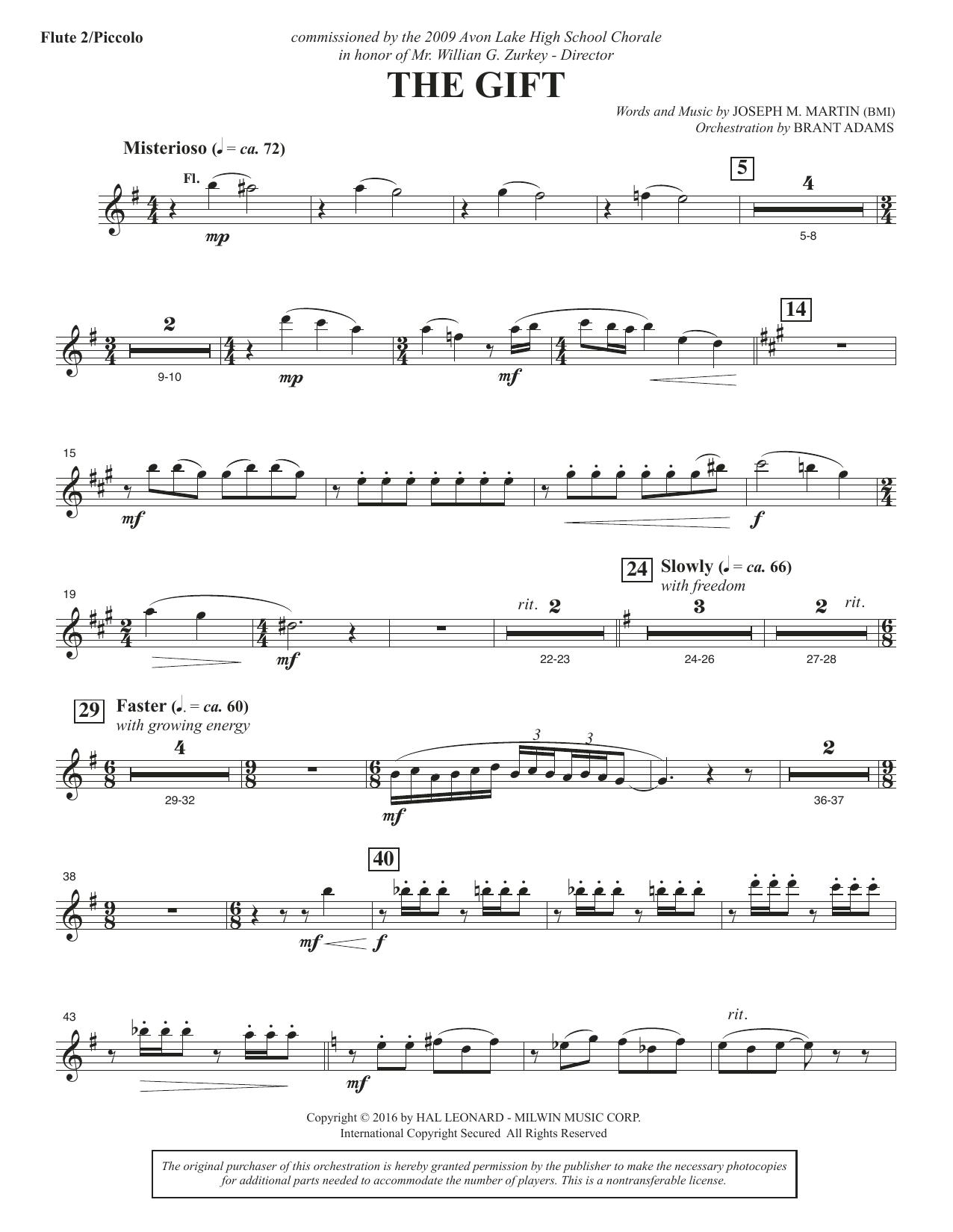 The Gift - Flute 2 (Piccolo)