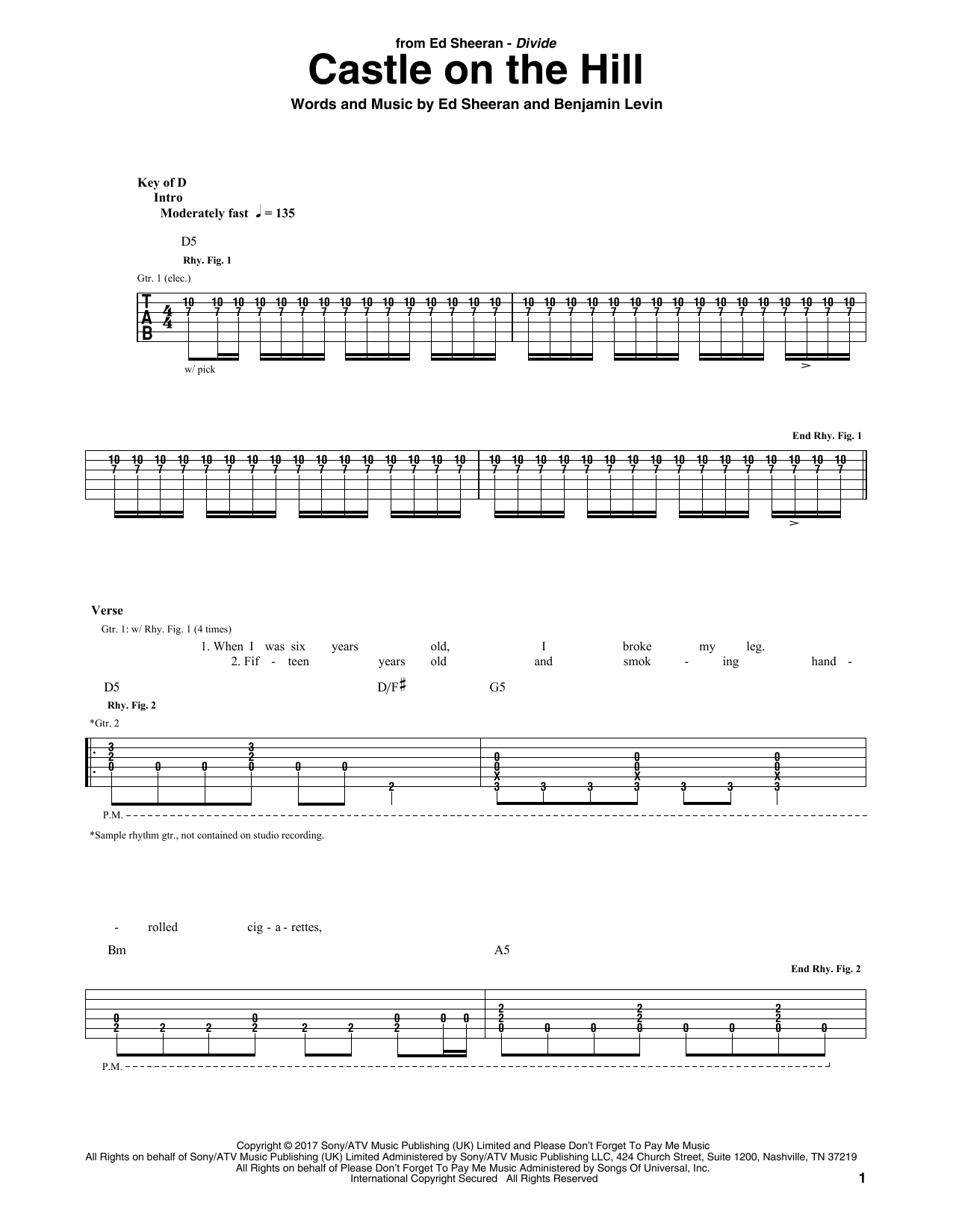 Sheet Music Digital Files To Print Licensed Ed Sheeran Digital