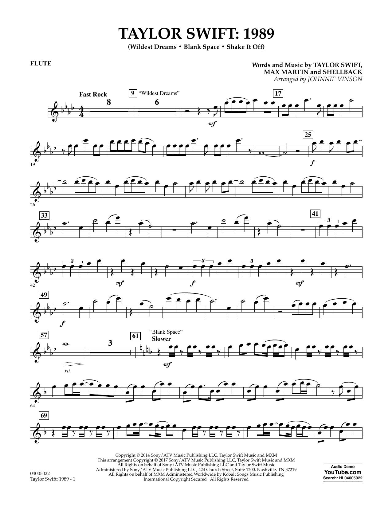 Taylor Swift - Taylor Swift: 1989 - Flute