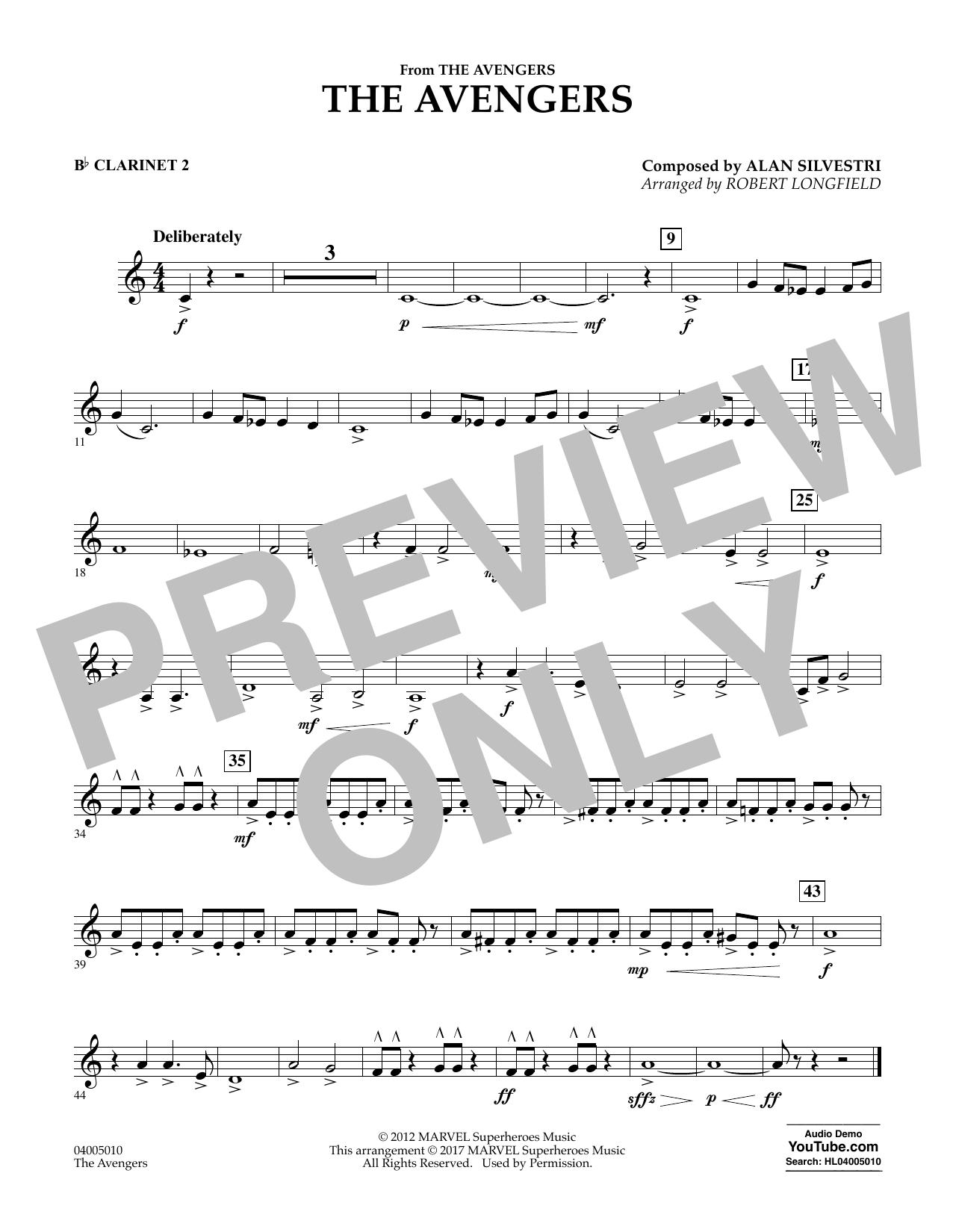 Alan Silvestri - The Avengers - Bb Clarinet 2