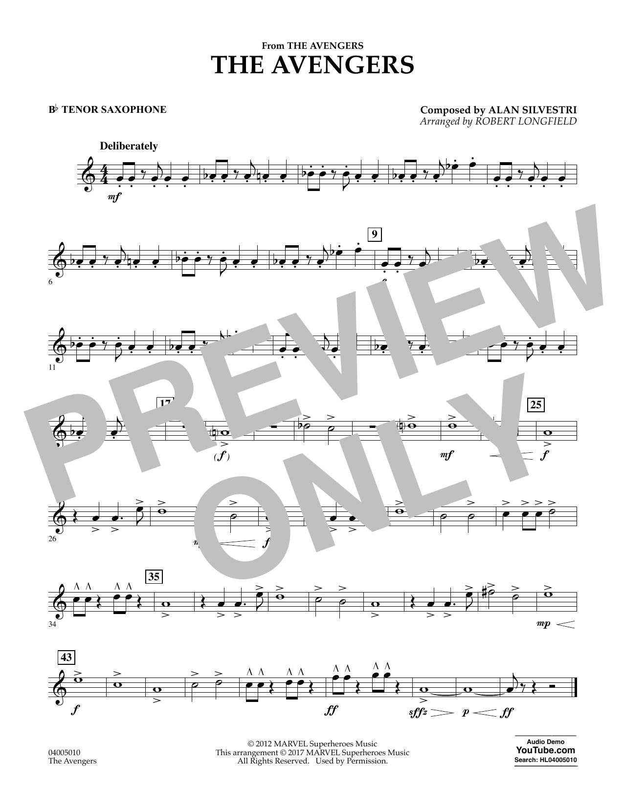 Alan Silvestri - The Avengers - Bb Tenor Saxophone