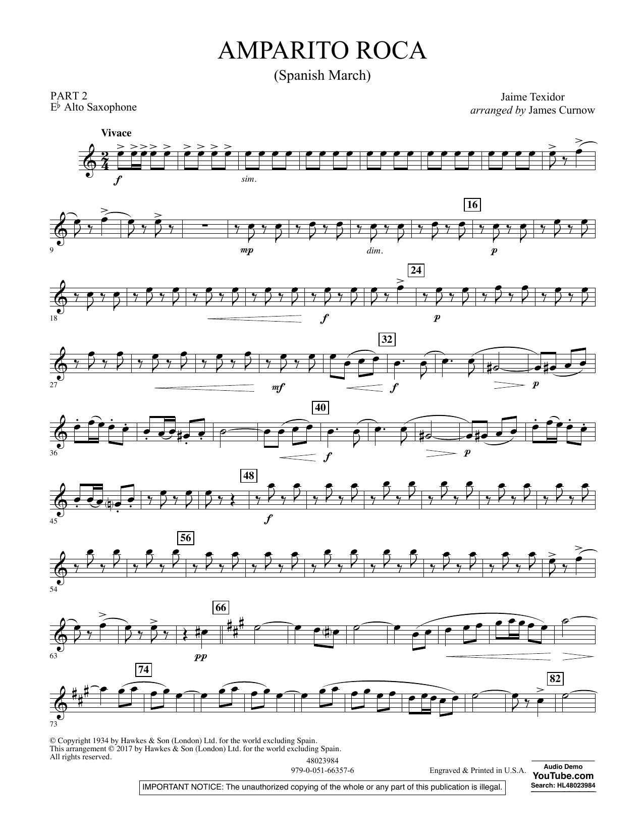 Jaime Texidor - Amparito Roca (Spanish March) - Pt.2 - Eb Alto Saxophone