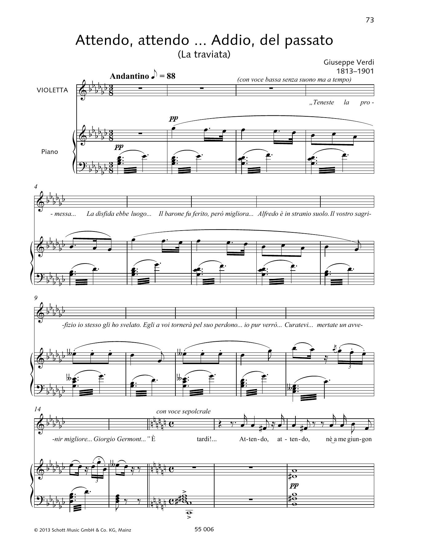 Giuseppe Verdi - Attendo, attendo ... Addio, del passato