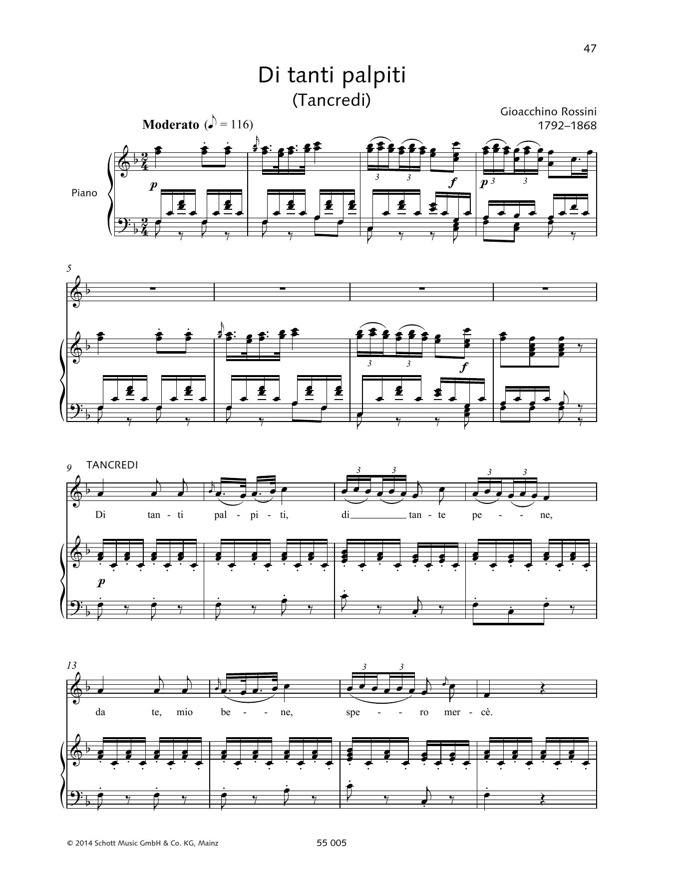 Gioacchino Rossini - Di tanti palpiti
