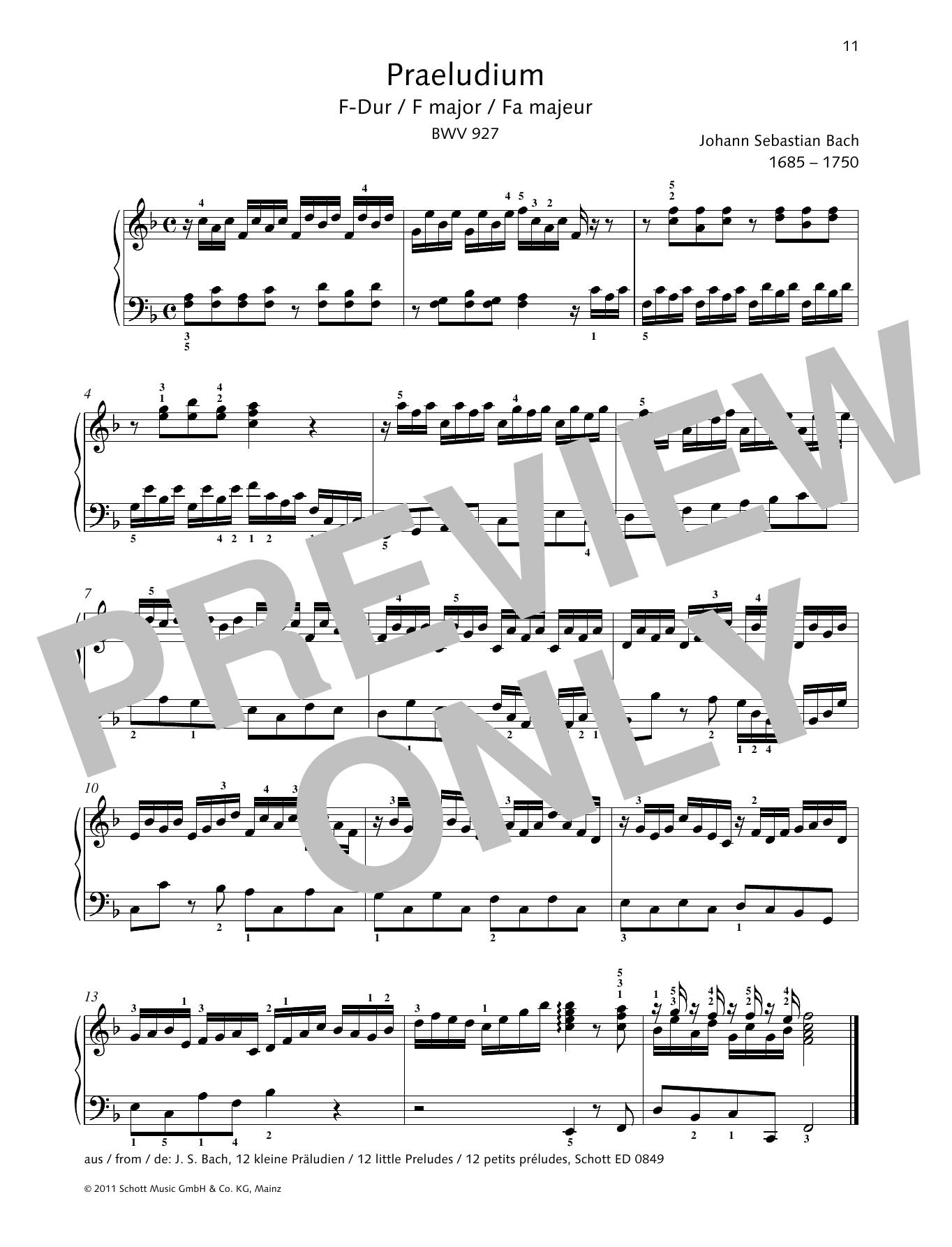 Prelude F major