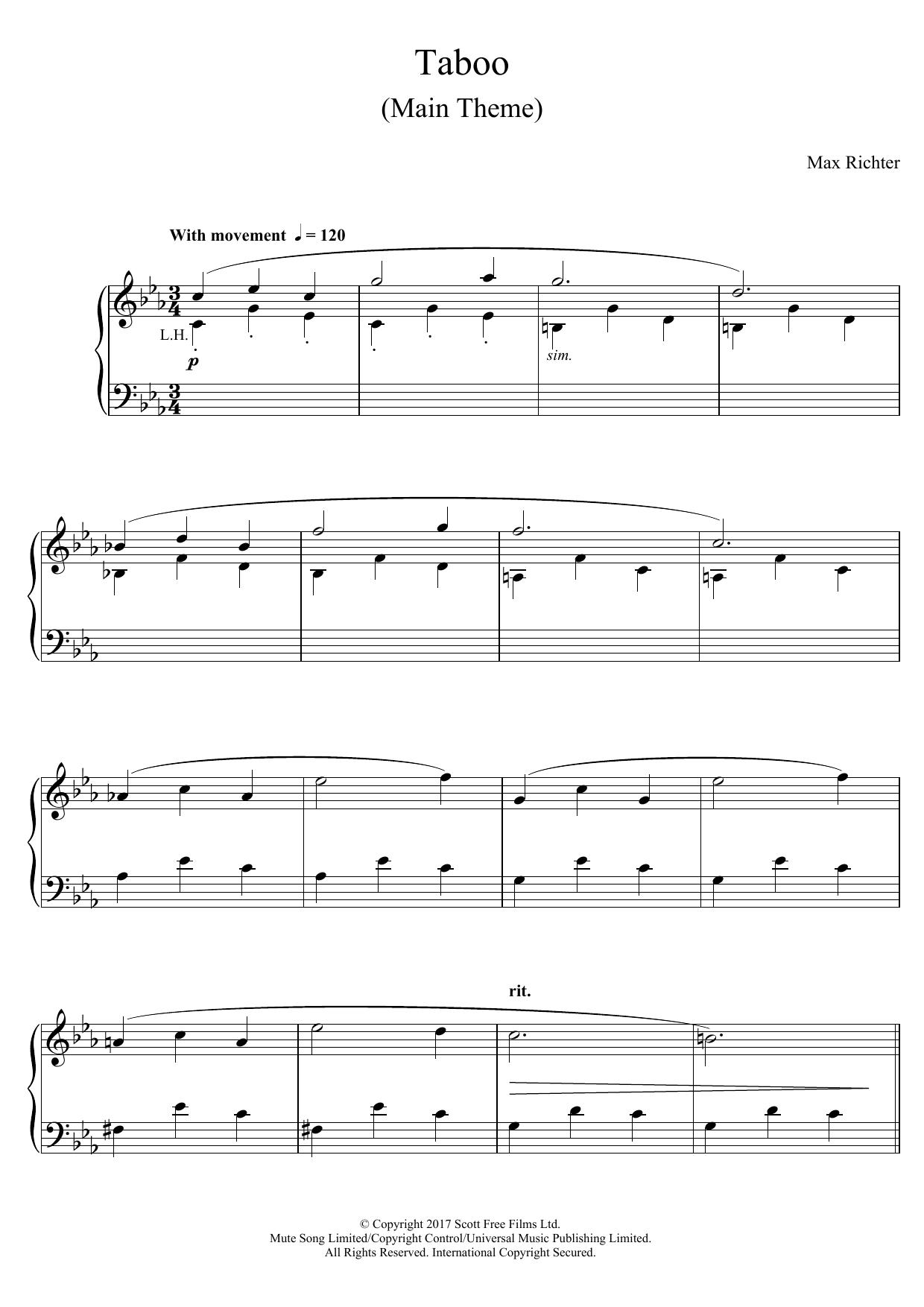 Max Richter - Taboo (Main Theme)