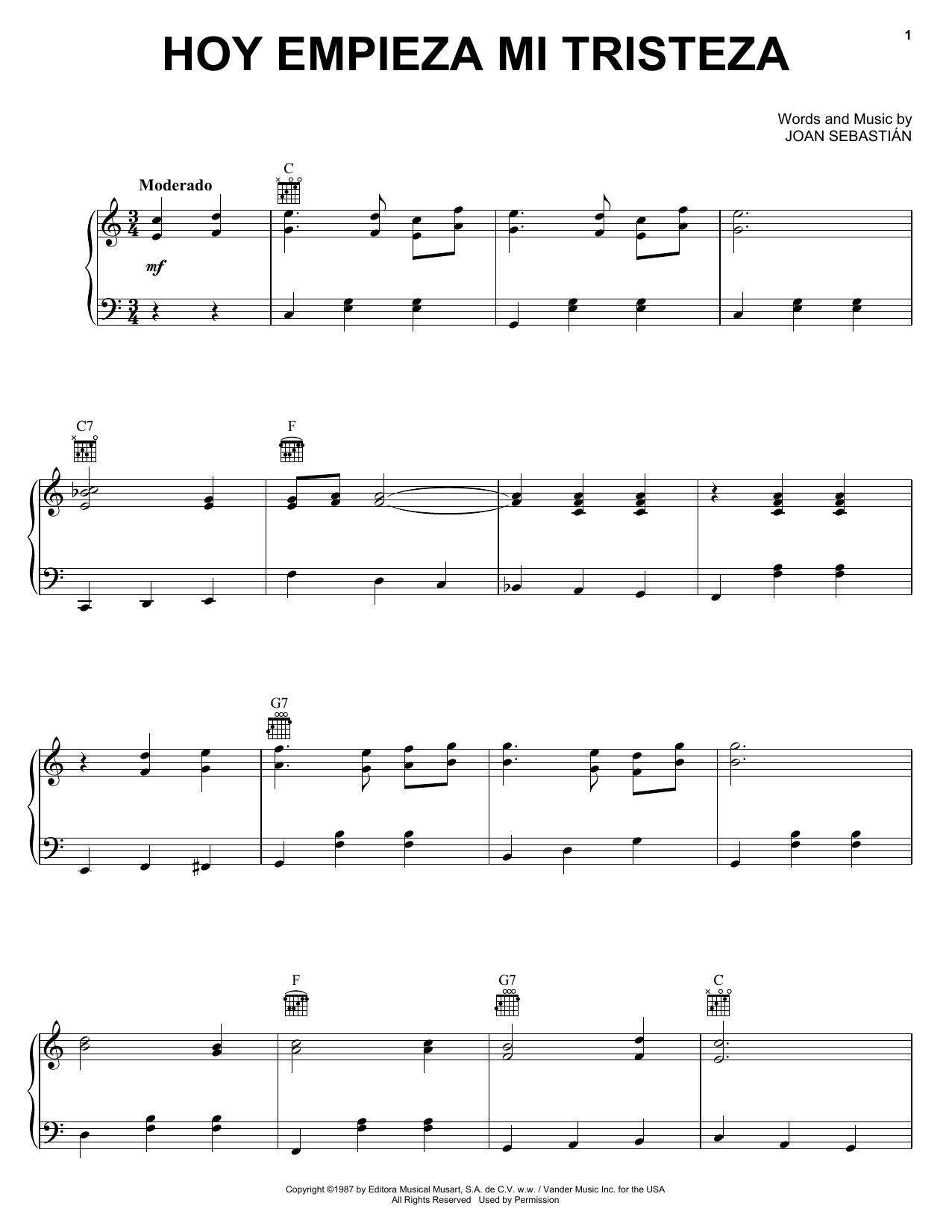 Joan Sebastián - Hoy Empieza Mi Tristeza