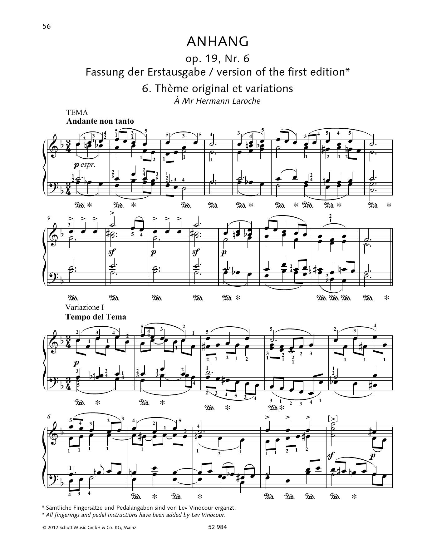 Thème original et variations