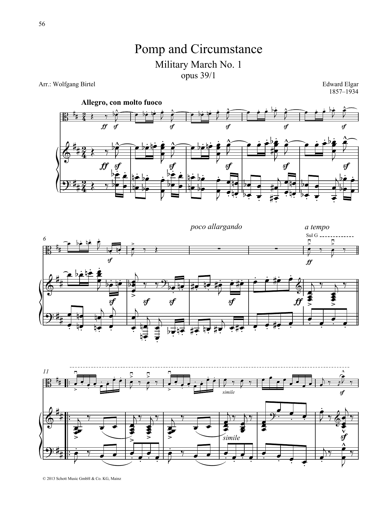 Pomp and circumstance sheet music at stanton 39 s sheet music for Pomp and circumstance