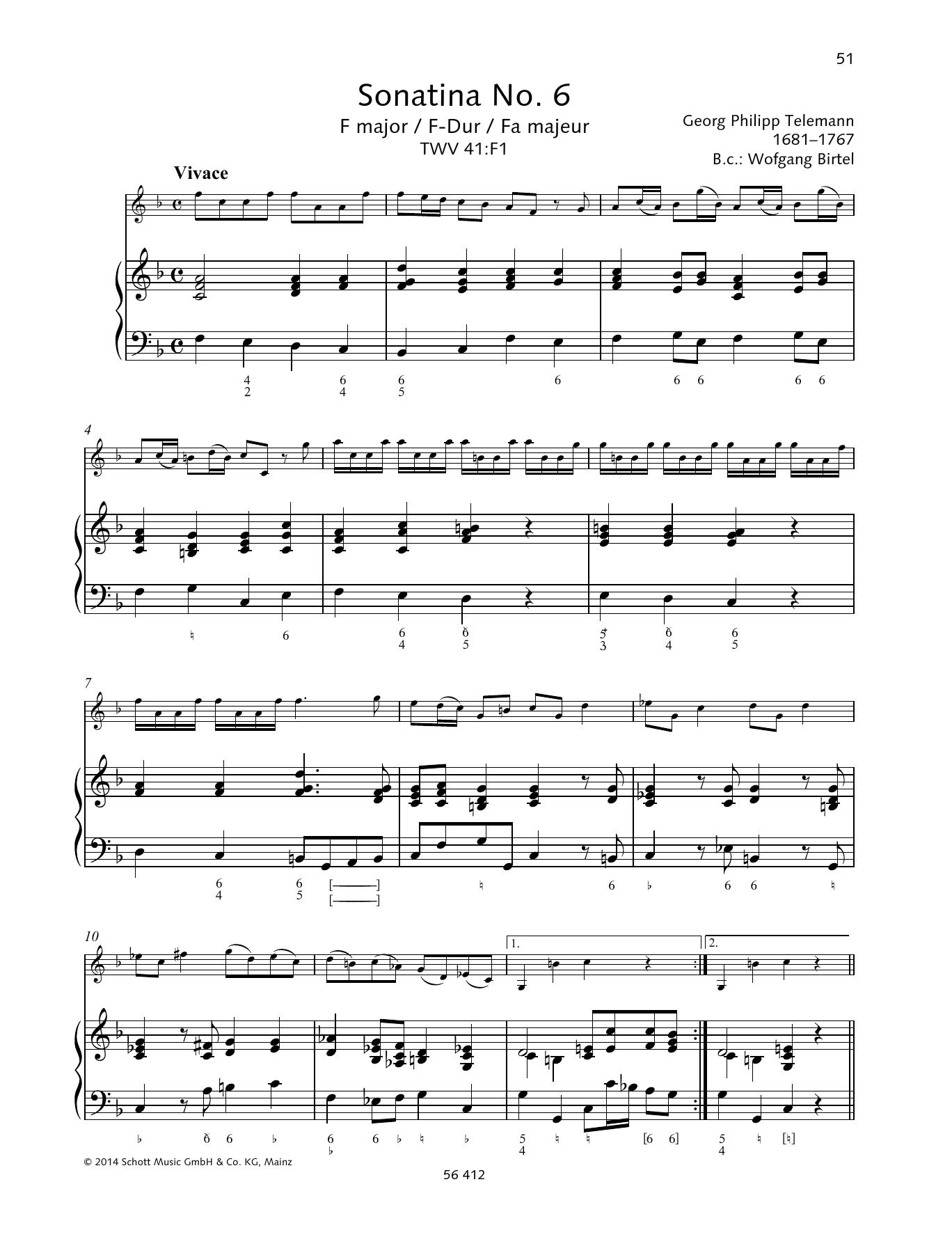 Sonatina No. 6 F major