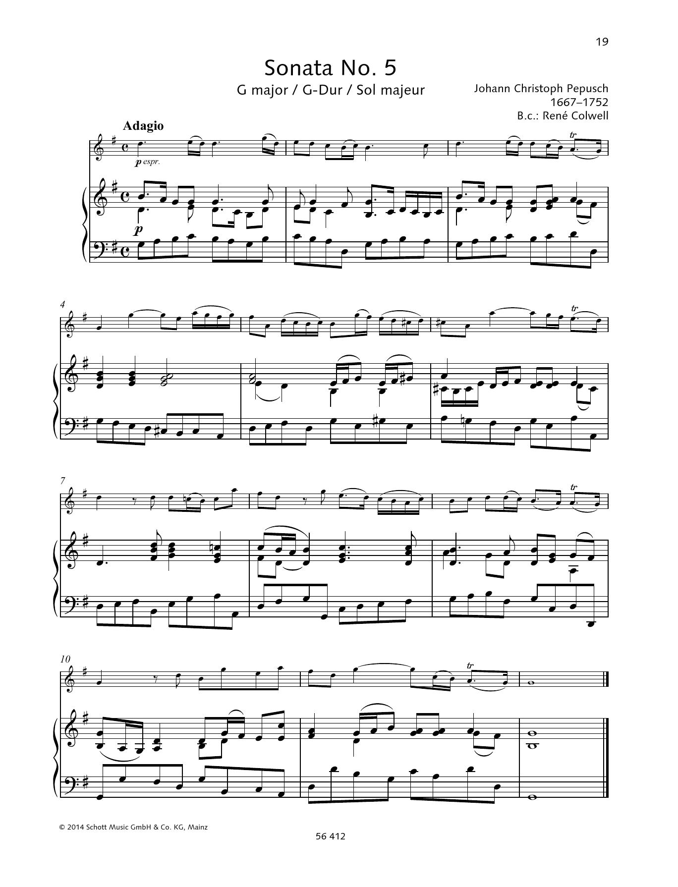 Sonata No. 5 G major