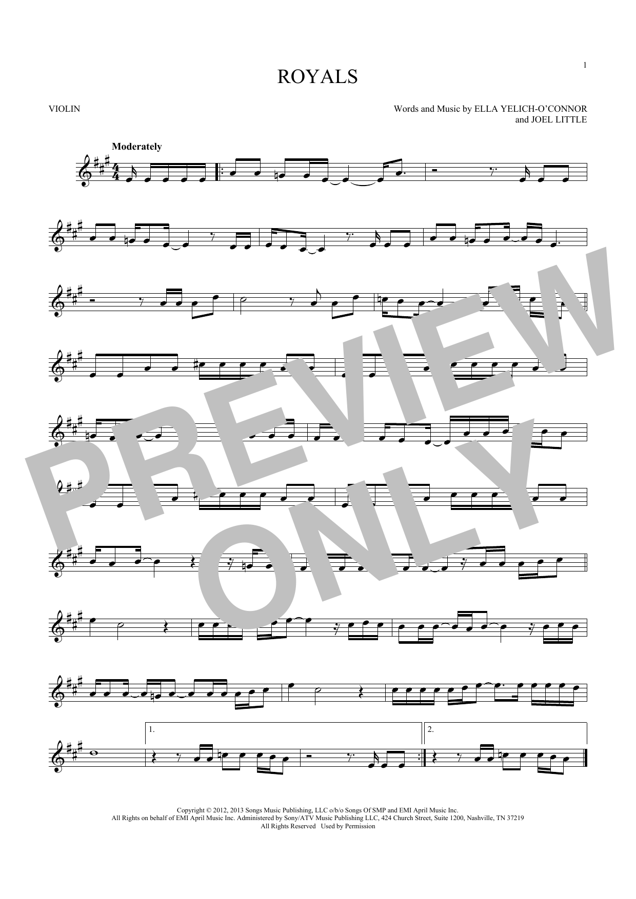 Sheet Music Digital Files To Print Licensed Lorde Digital Sheet Music
