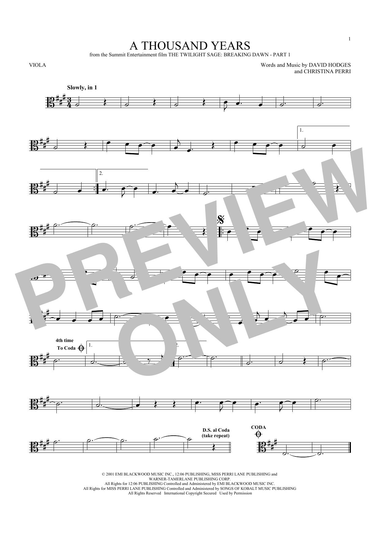 Sheet music digital files to print licensed christina perri a thousand years hexwebz Image collections
