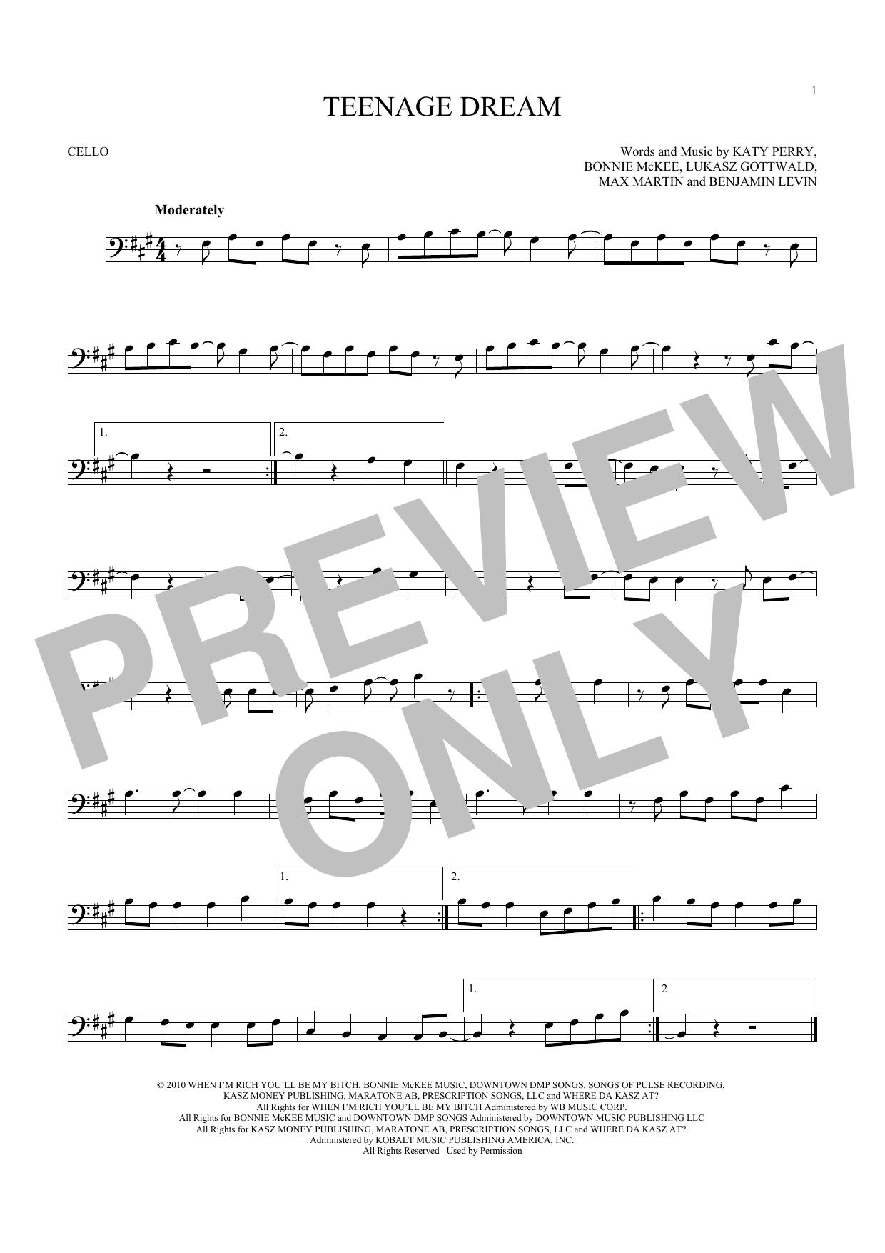 Sheet Music Digital Files To Print Licensed Katy Perry Digital