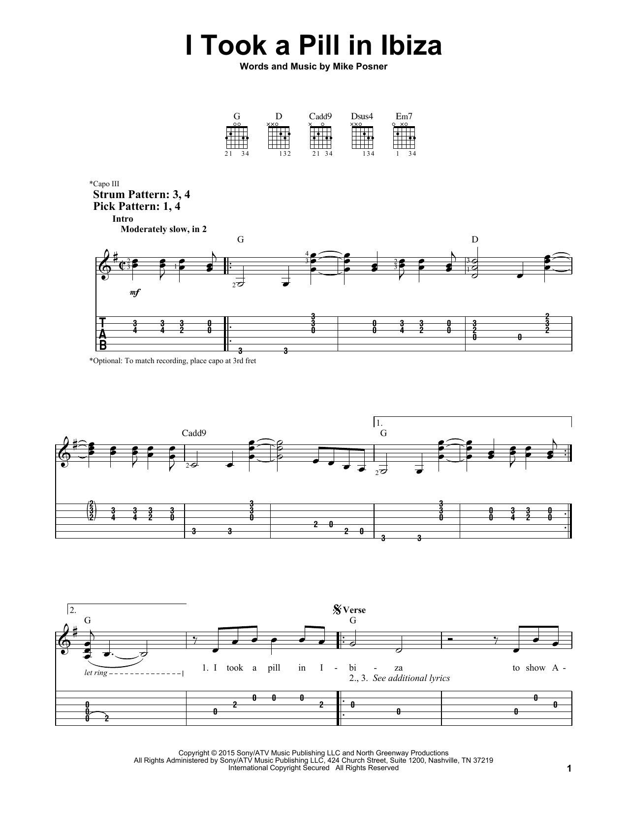 Sheet Music Digital Files To Print Licensed Mike Posner Digital
