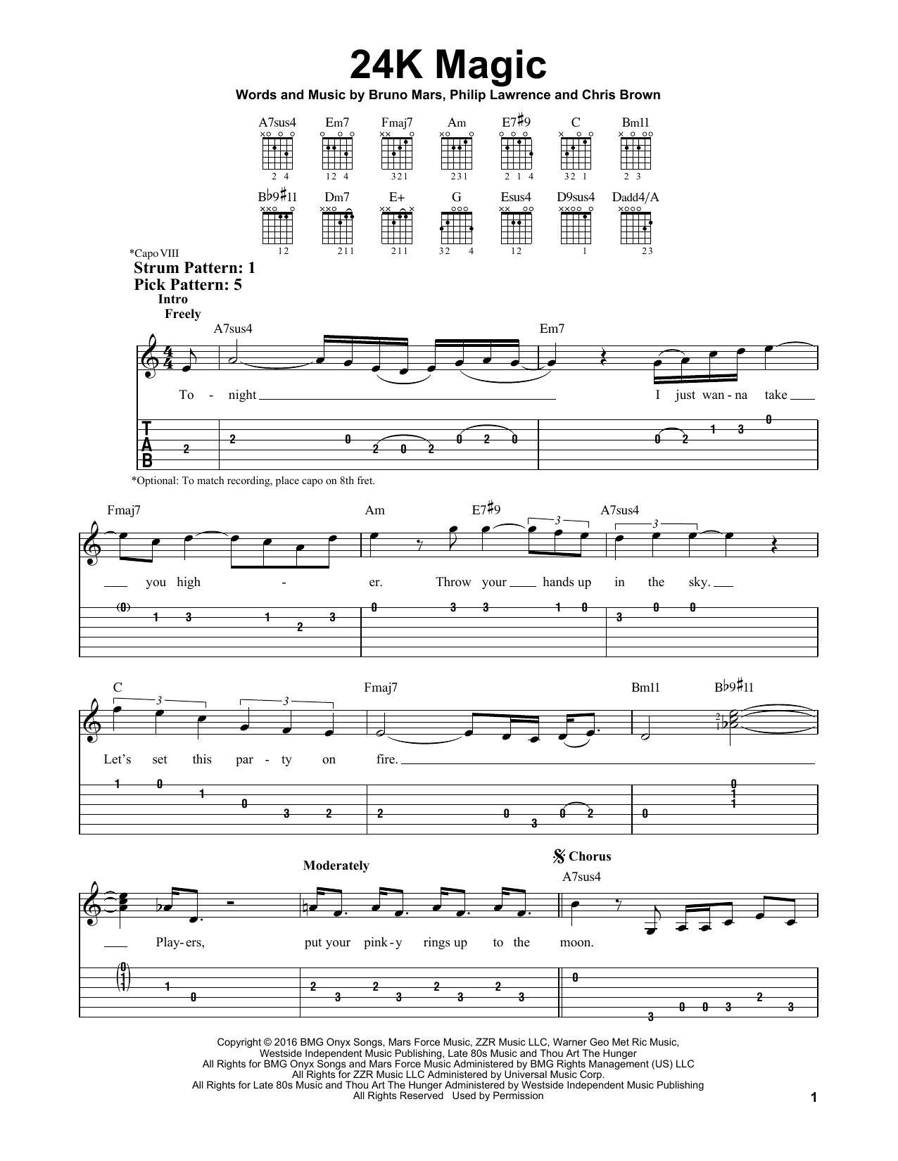 Sheet Music Digital Files To Print Licensed Bruno Mars Digital