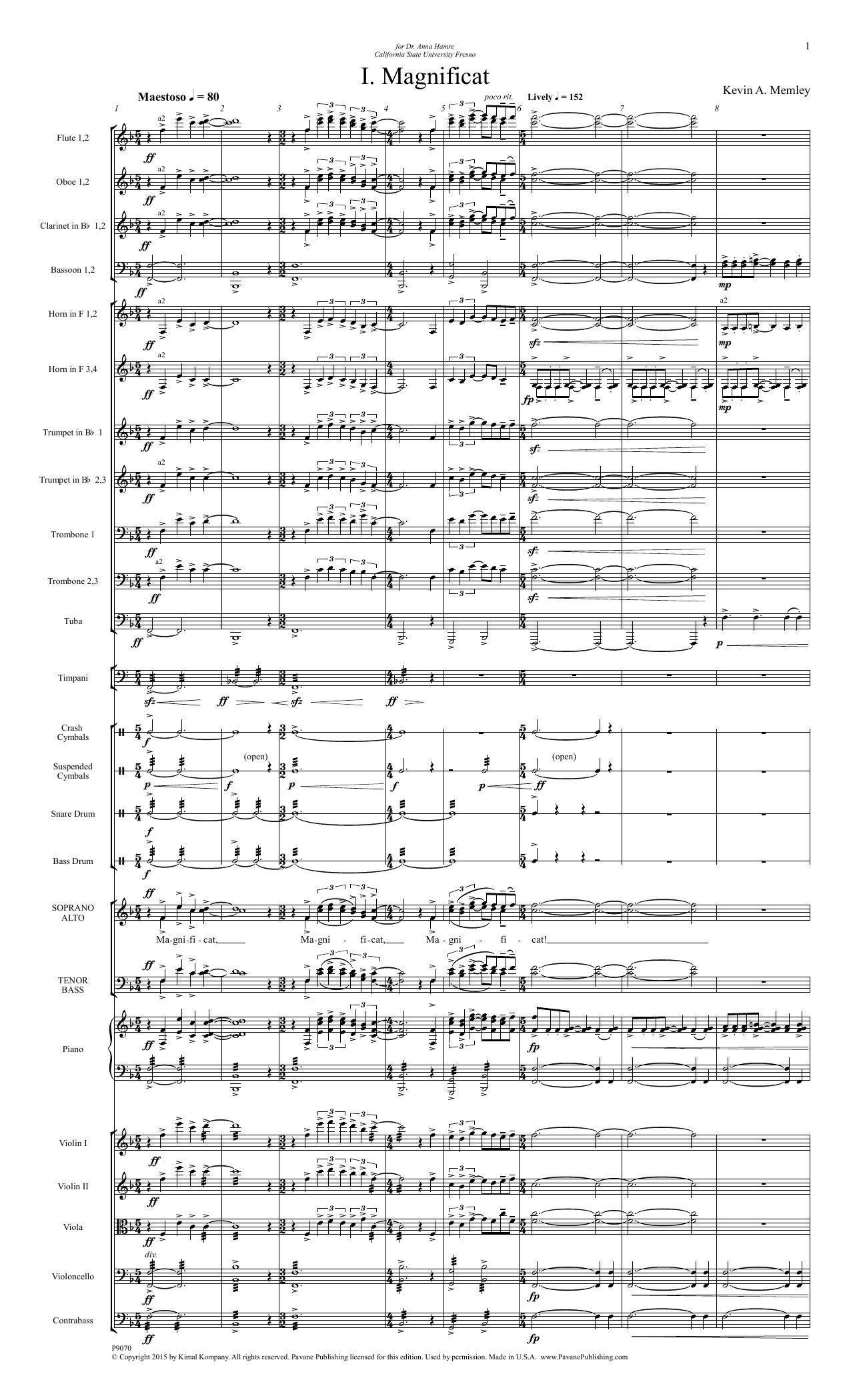 Magnificat - Full Score