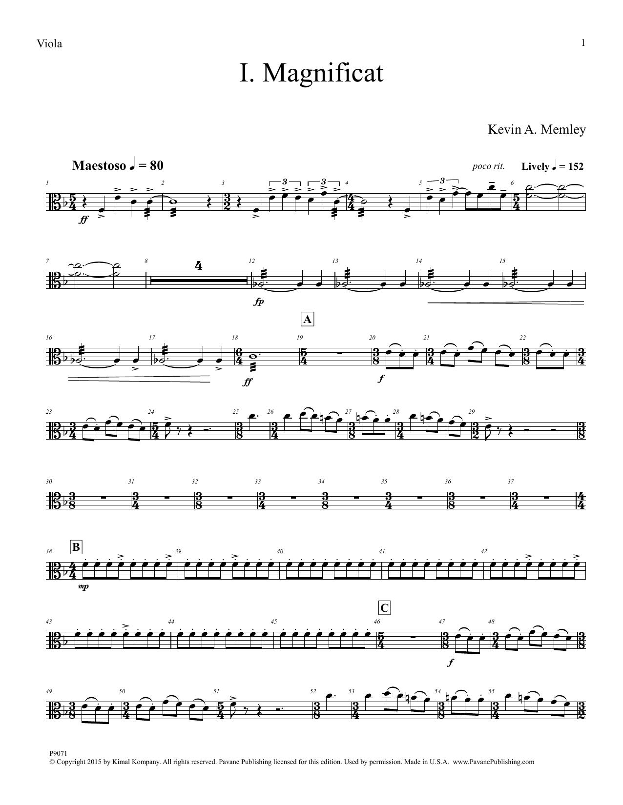 Magnificat - Violin 1
