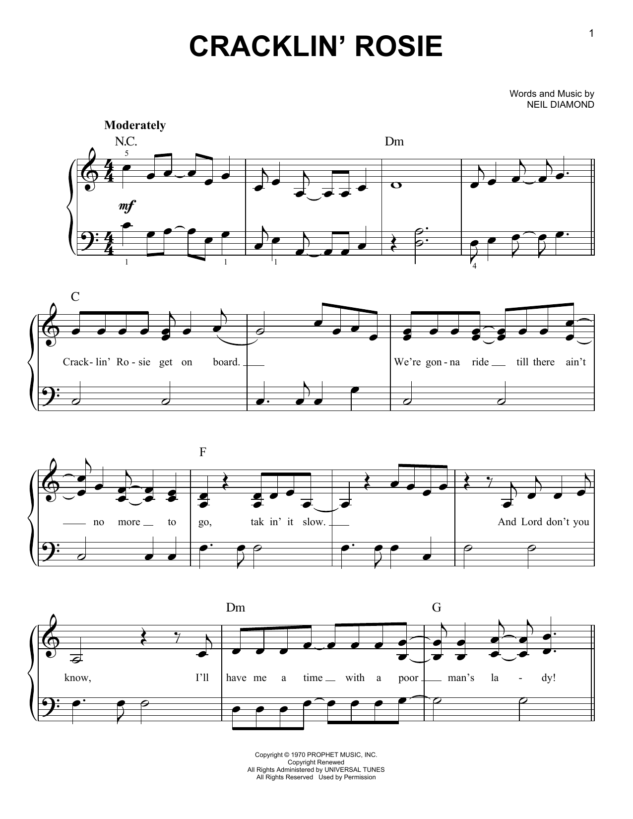 Sheet music digital files to print licensed easy piano digital cracklin rosie hexwebz Gallery