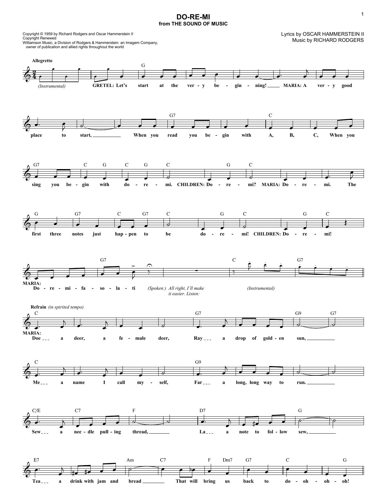 Rodgers & Hammerstein - Do-Re-Mi