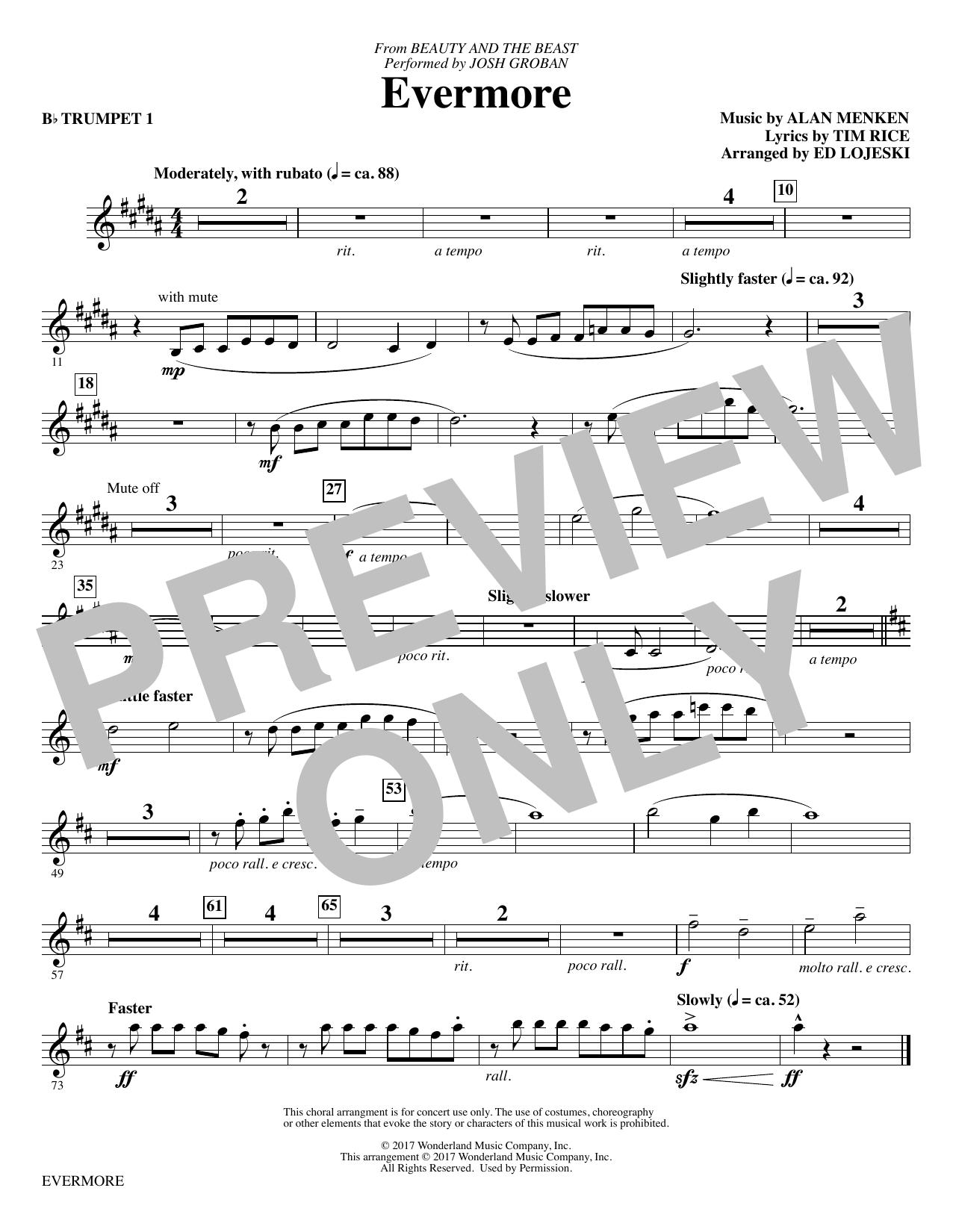 Josh Groban - Evermore - Bb Trumpet 1